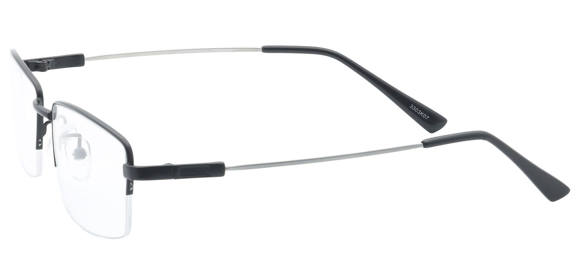 Zander Rectangle Lined Bifocal Glasses - Black