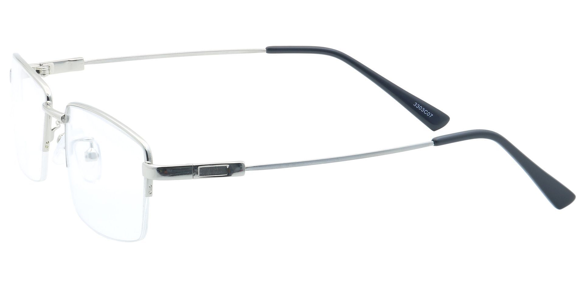 Zander Rectangle Lined Bifocal Glasses - Silver