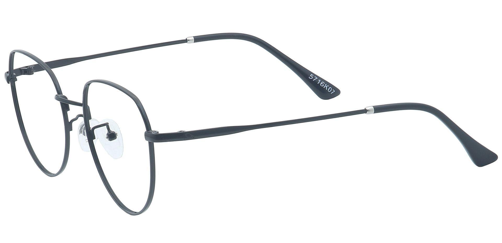 Maren Round Prescription Glasses - Black