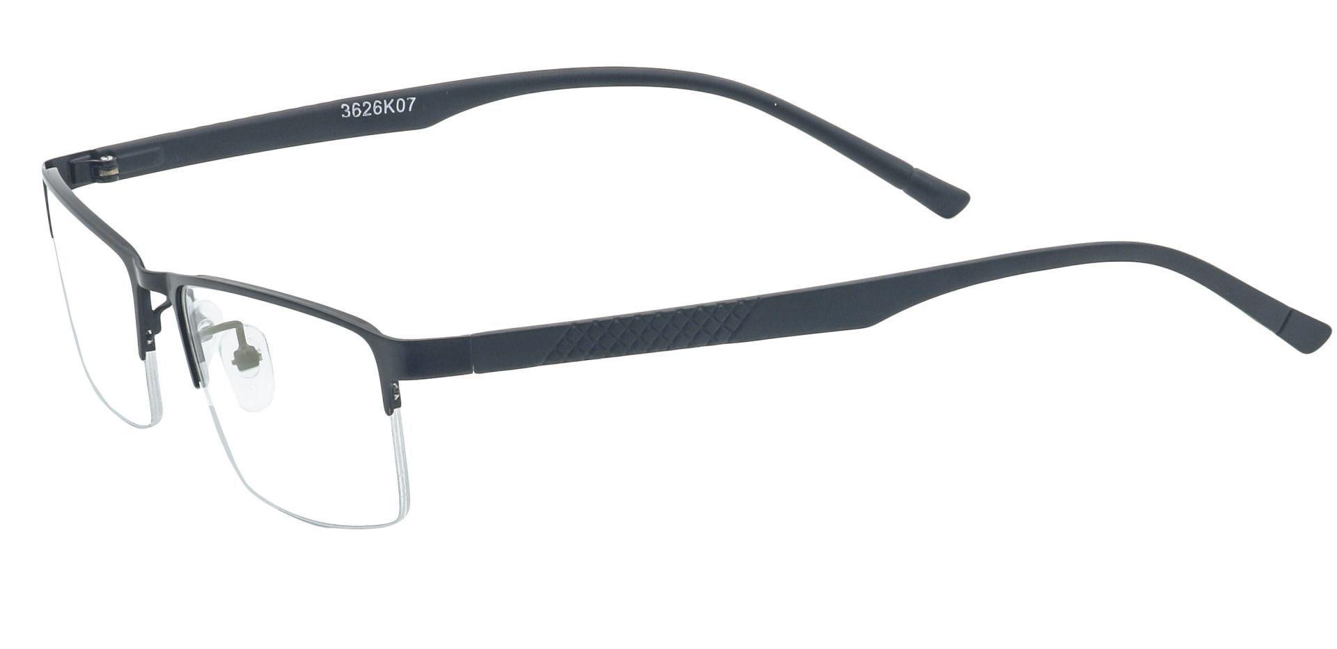 Ricky Rectangle Prescription Glasses - Black