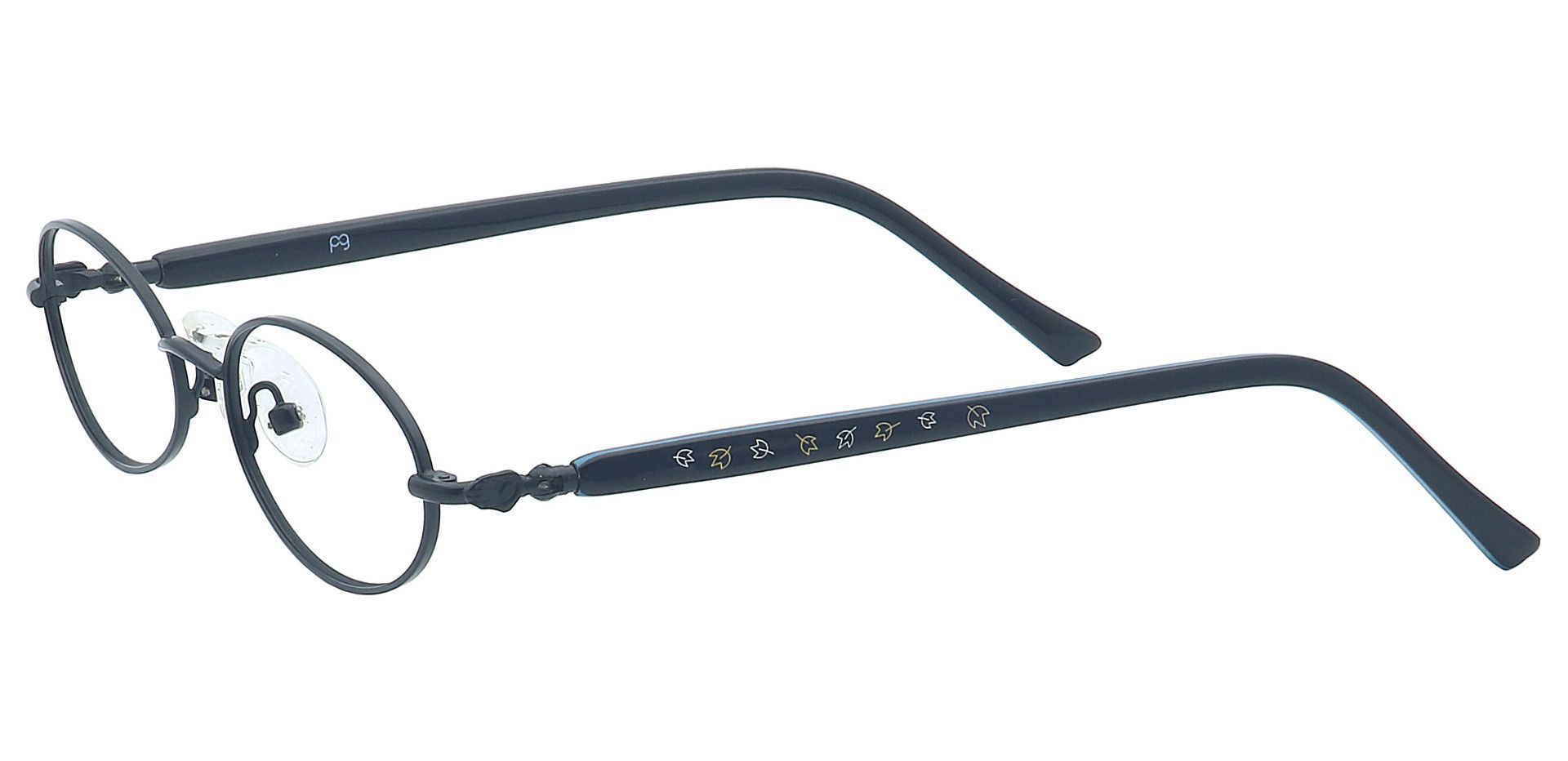Rory Oval Single Vision Glasses - Black