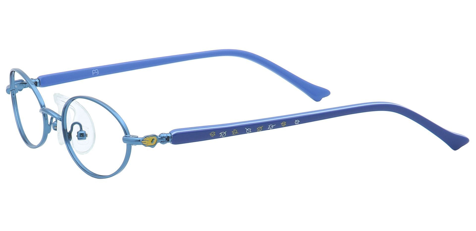 Rory Oval Non-Rx Glasses - Blue
