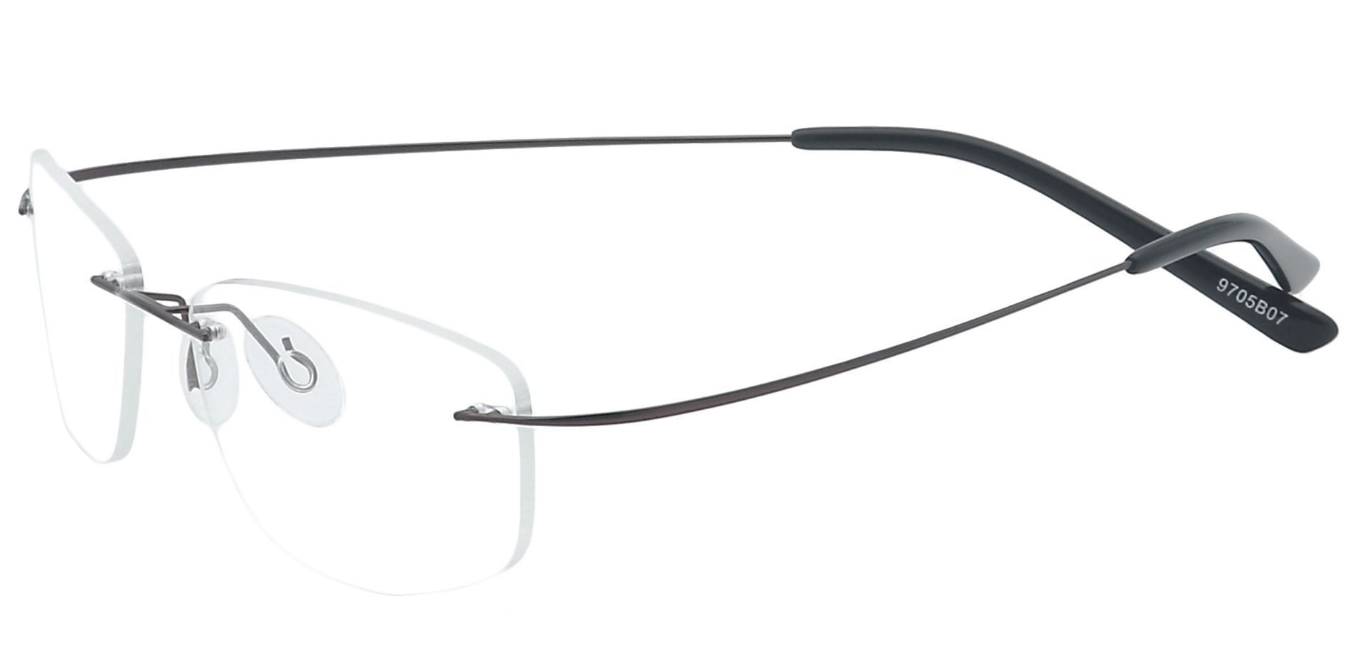 Jennie Rimless Reading Glasses - Brown