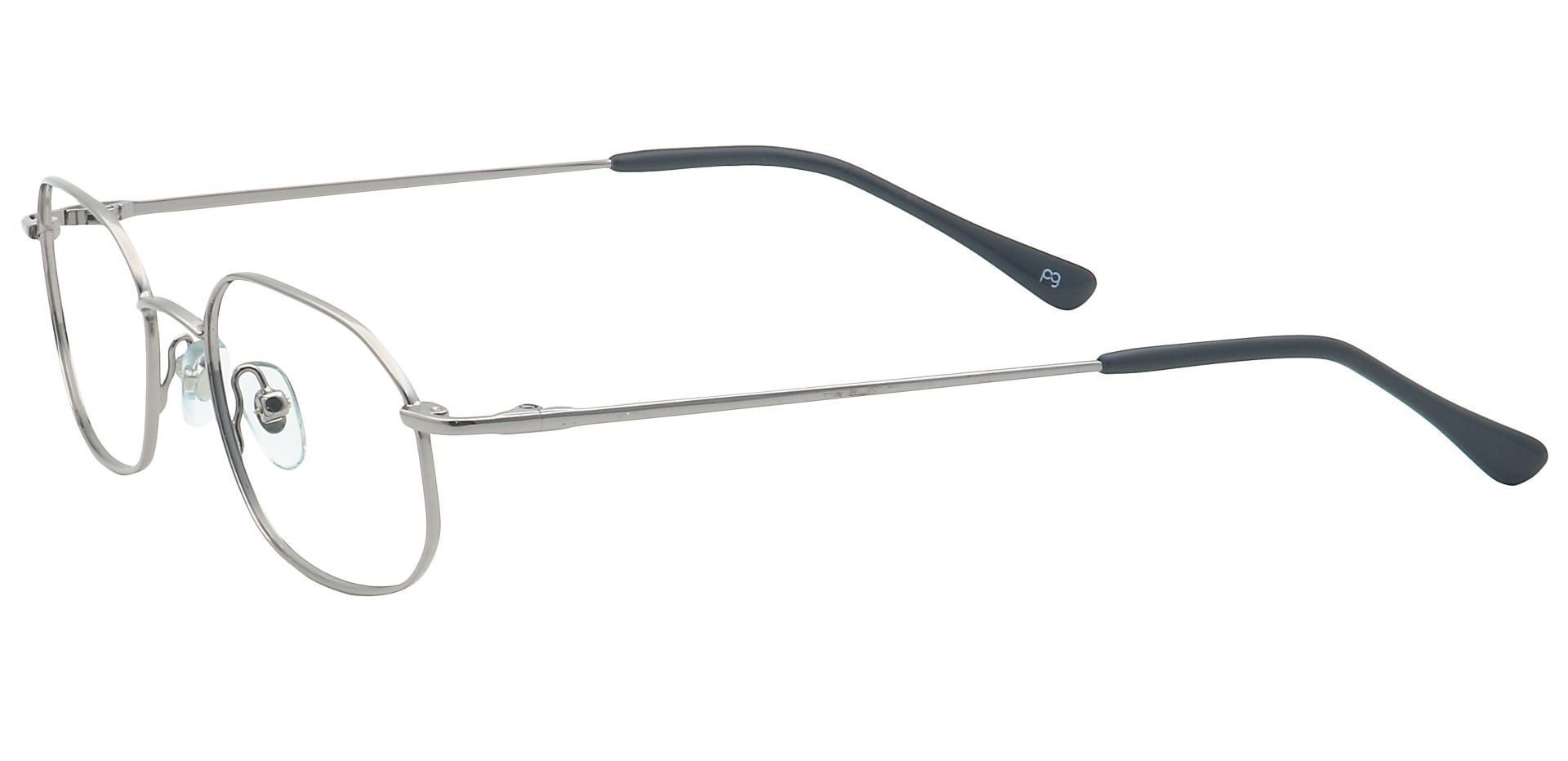 Parker Oval Lined Bifocal Glasses - Gray
