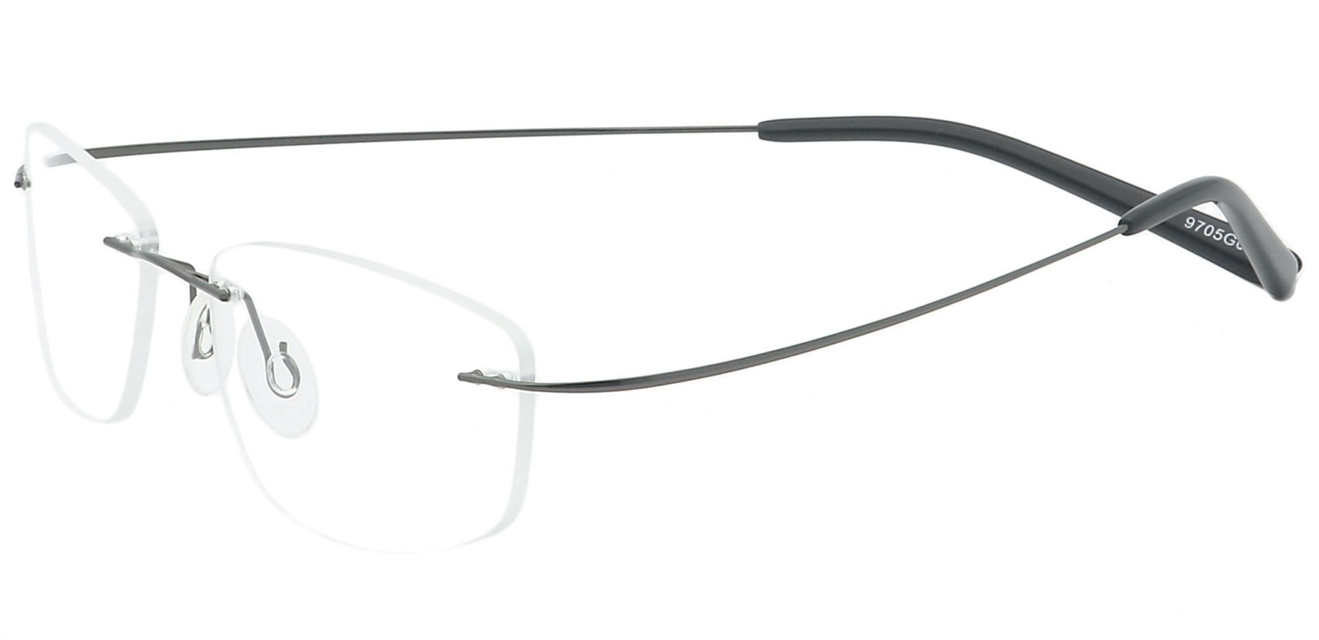 Jennie Rimless Lined Bifocal Glasses - Gray