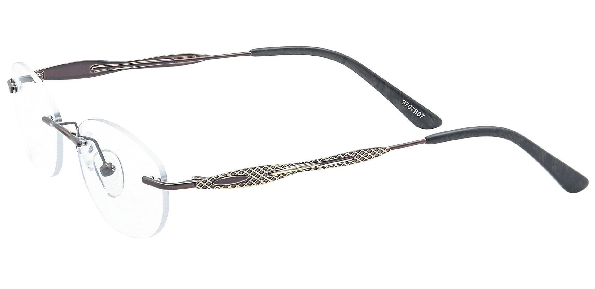 Greta Rimless Progressive Glasses - Brown