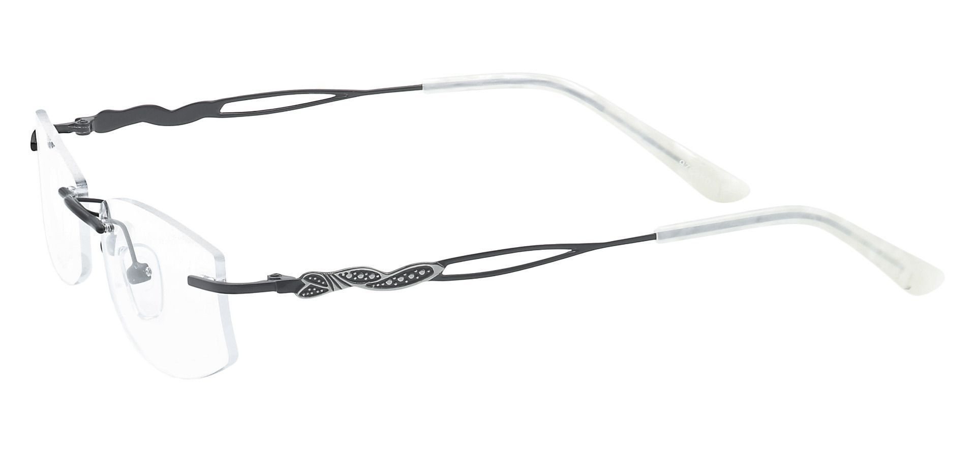 Jada Rimless Lined Bifocal Glasses - Black