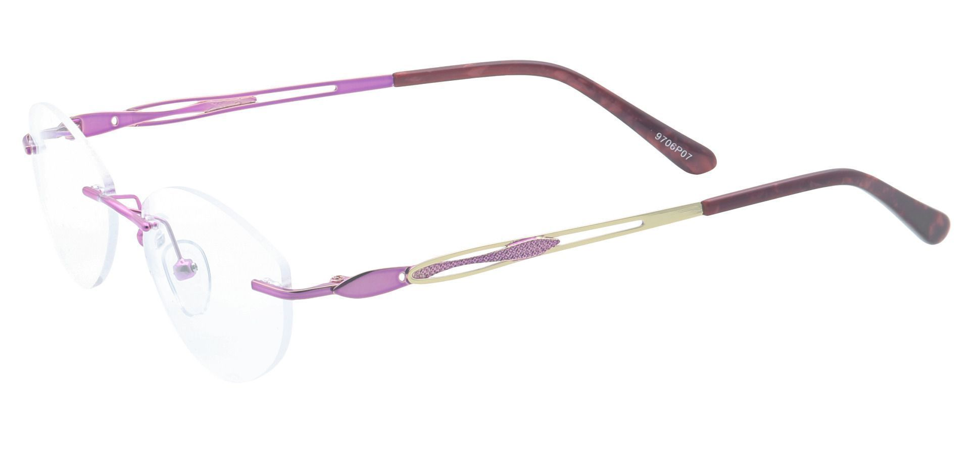 Fairy Rimless Non-Rx Glasses - Purple