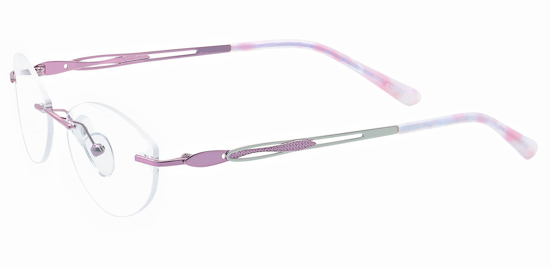Fairy Rimless Progressive Glasses - Pink