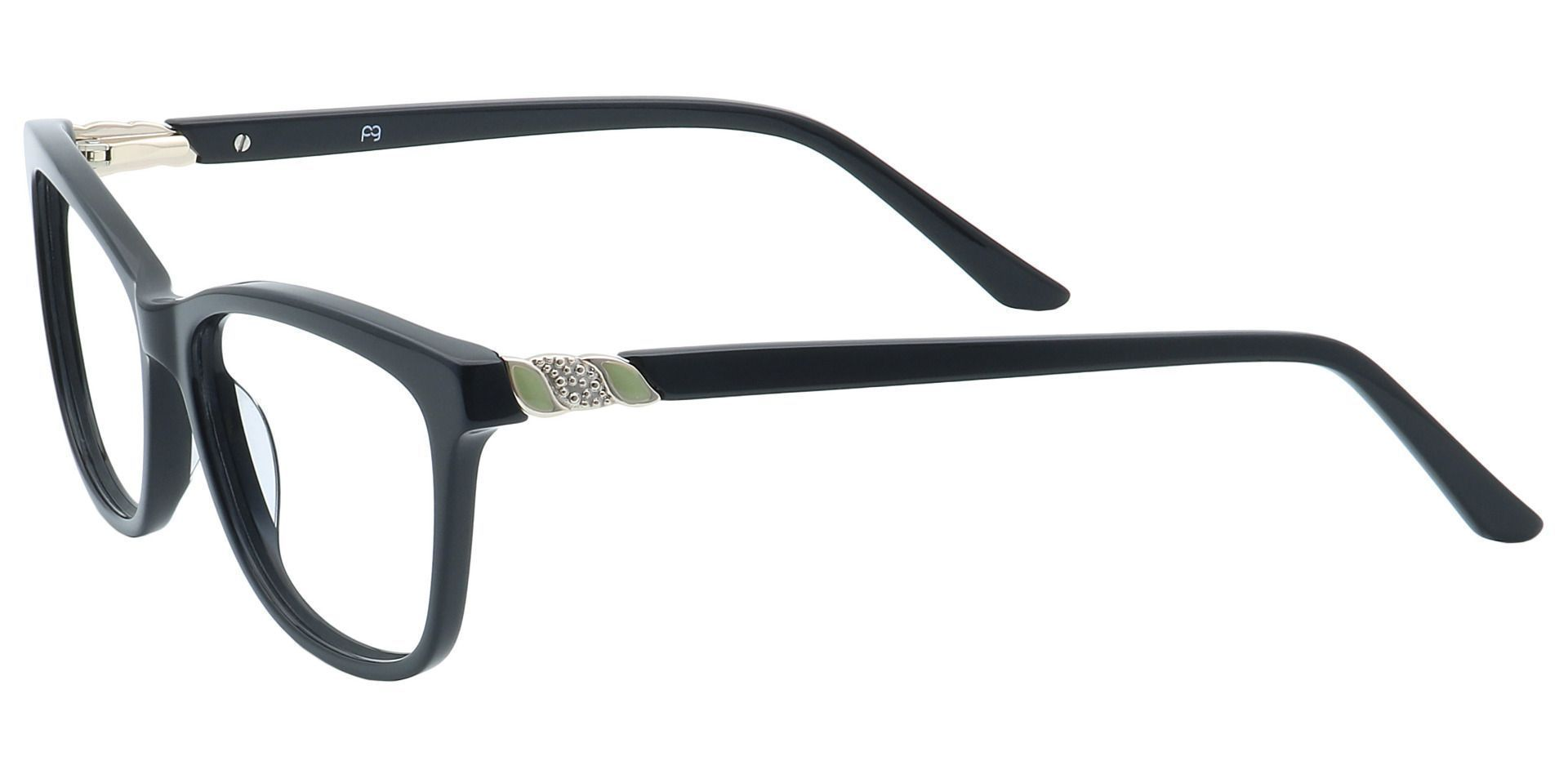 Reggie Oval Prescription Glasses - Black