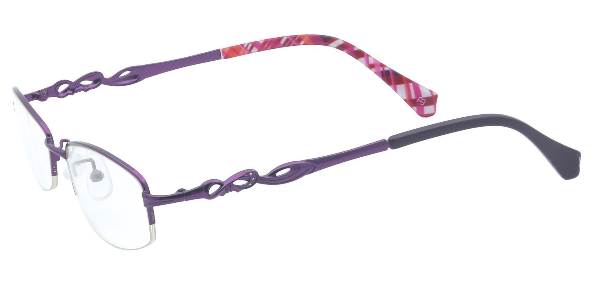 Deana Square Prescription Glasses - Purple