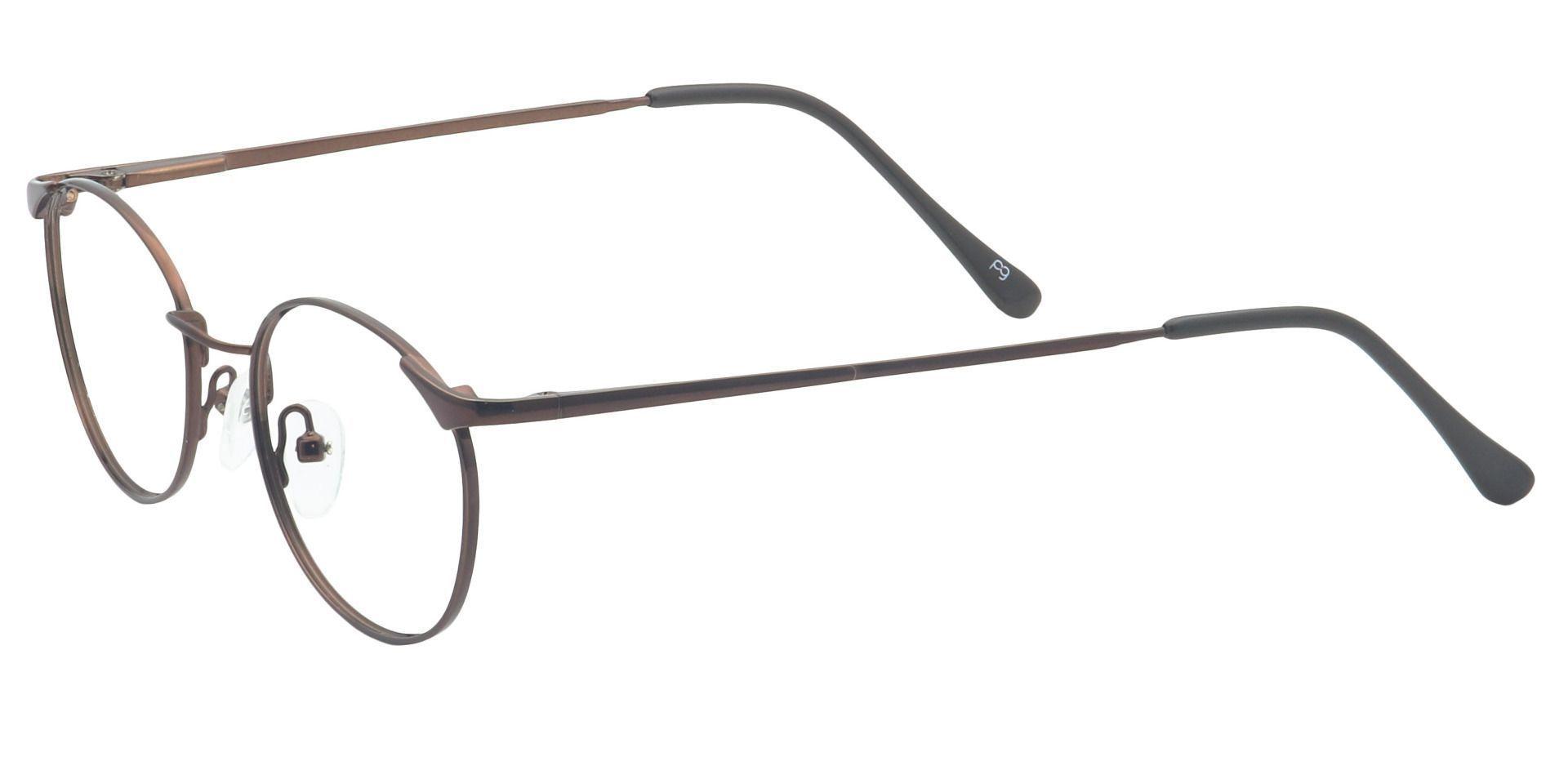 Collen Round Eyeglasses Frame - Brown