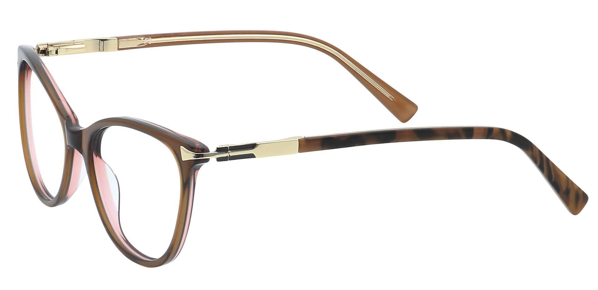 Nona Round Prescription Glasses - Brown
