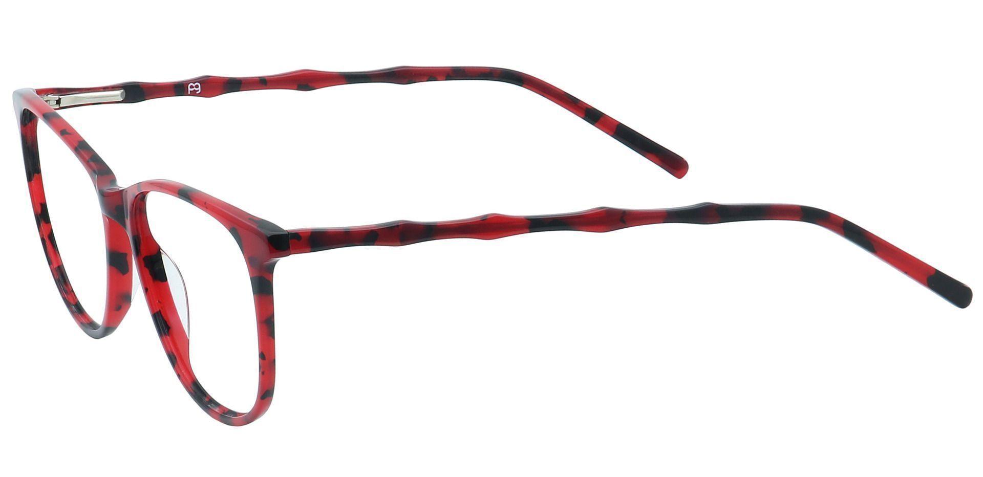 Tawn Oval Prescription Glasses - Red