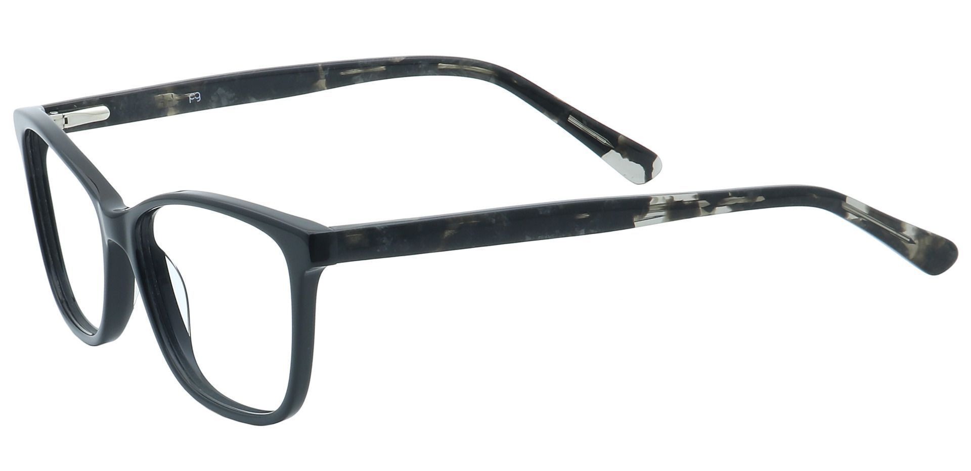 Casper Rectangle Progressive Glasses - Black