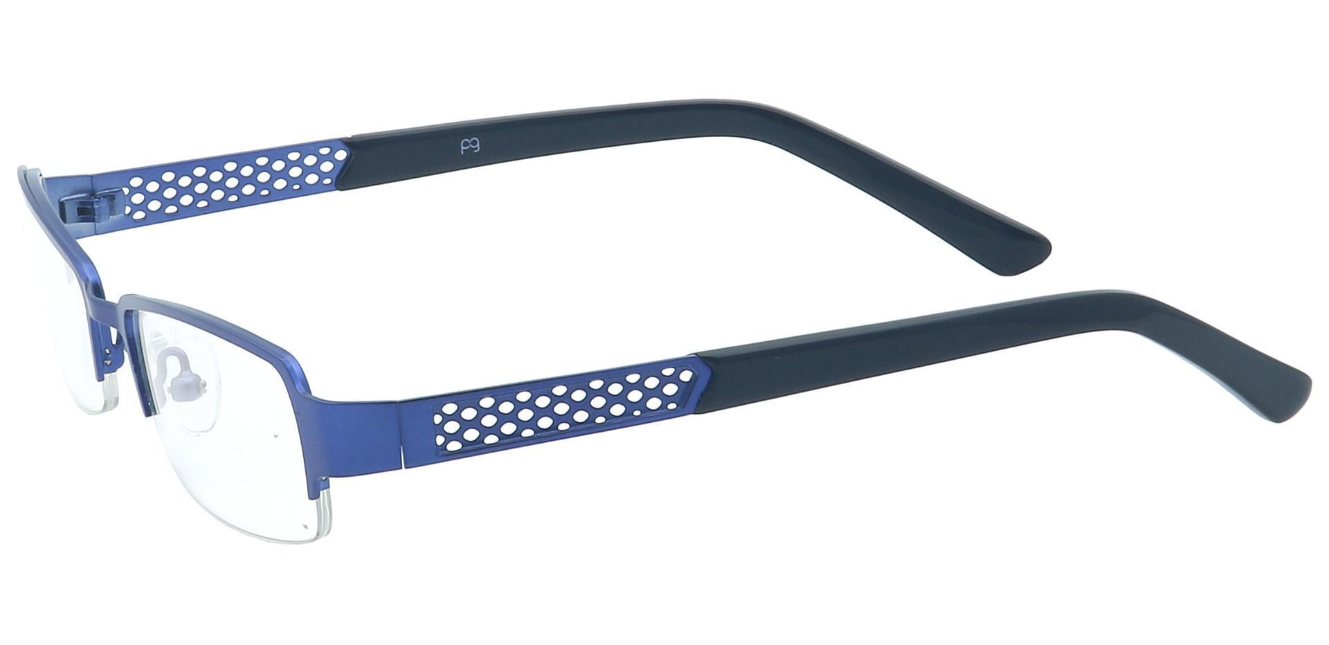 Rory Rectangle Non-Rx Glasses - Blue