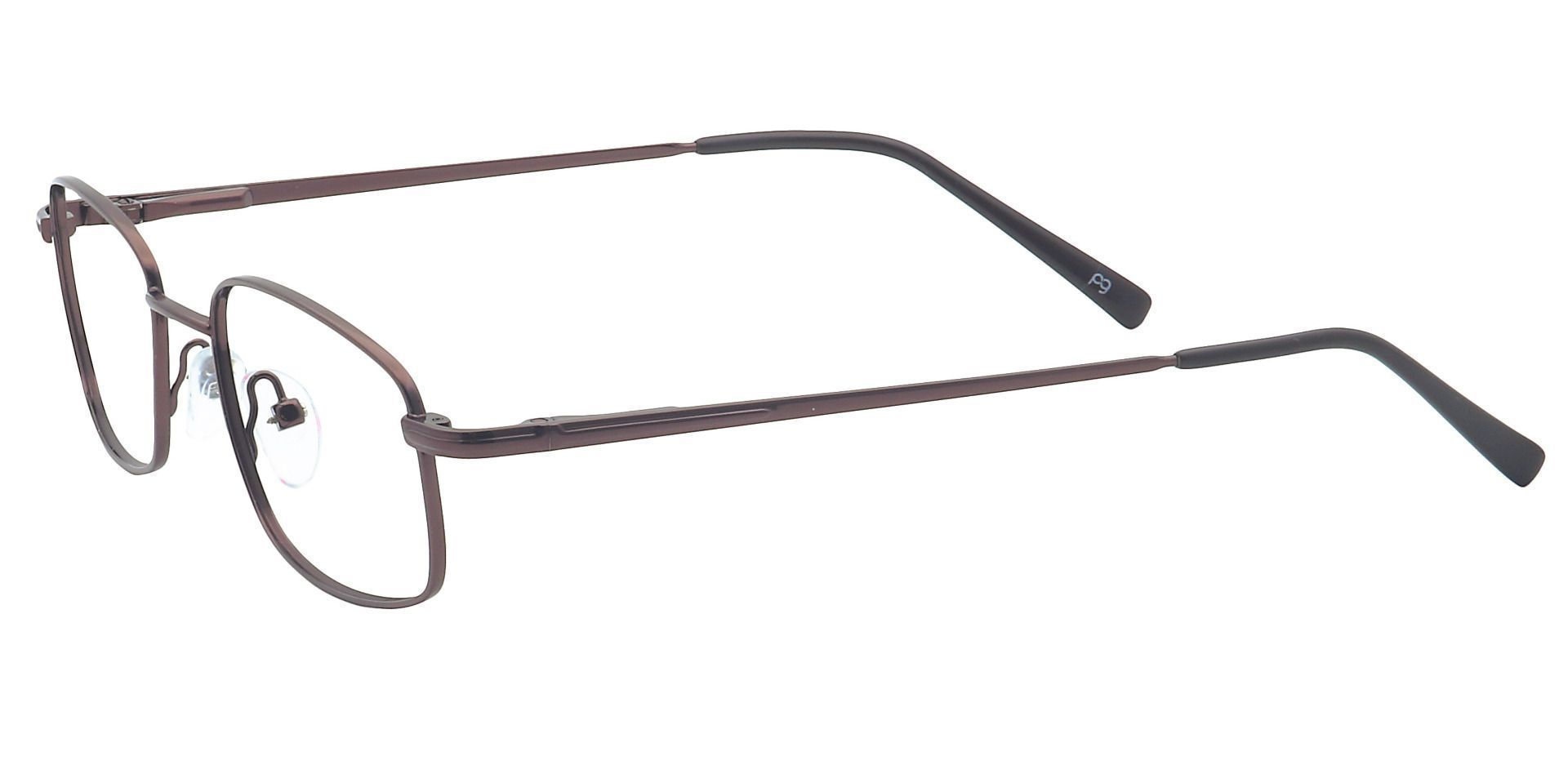 Jared Rectangle Non-Rx Glasses - Brown