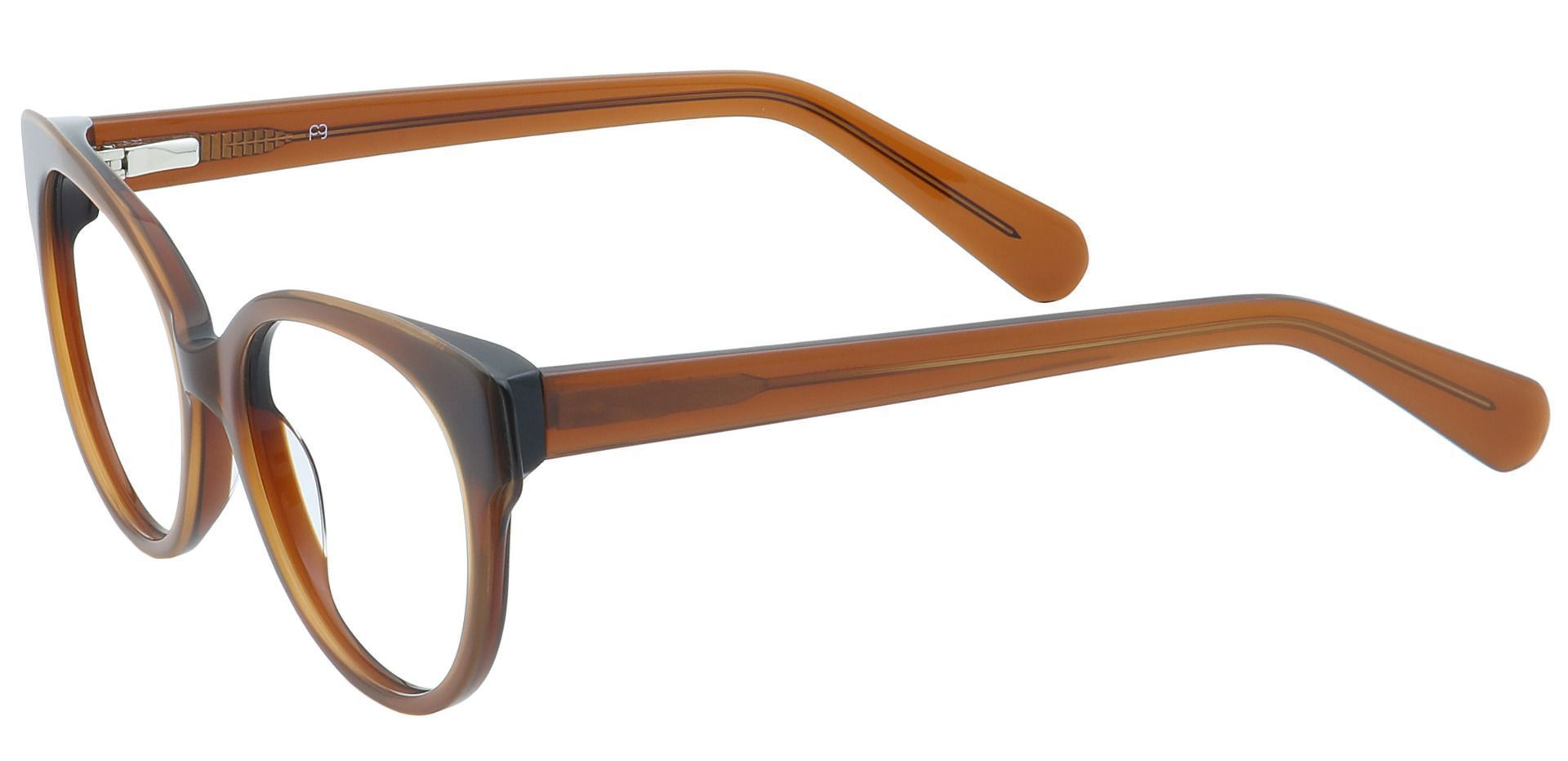 DJ Oval Blue Light Blocking Glasses - Caramel