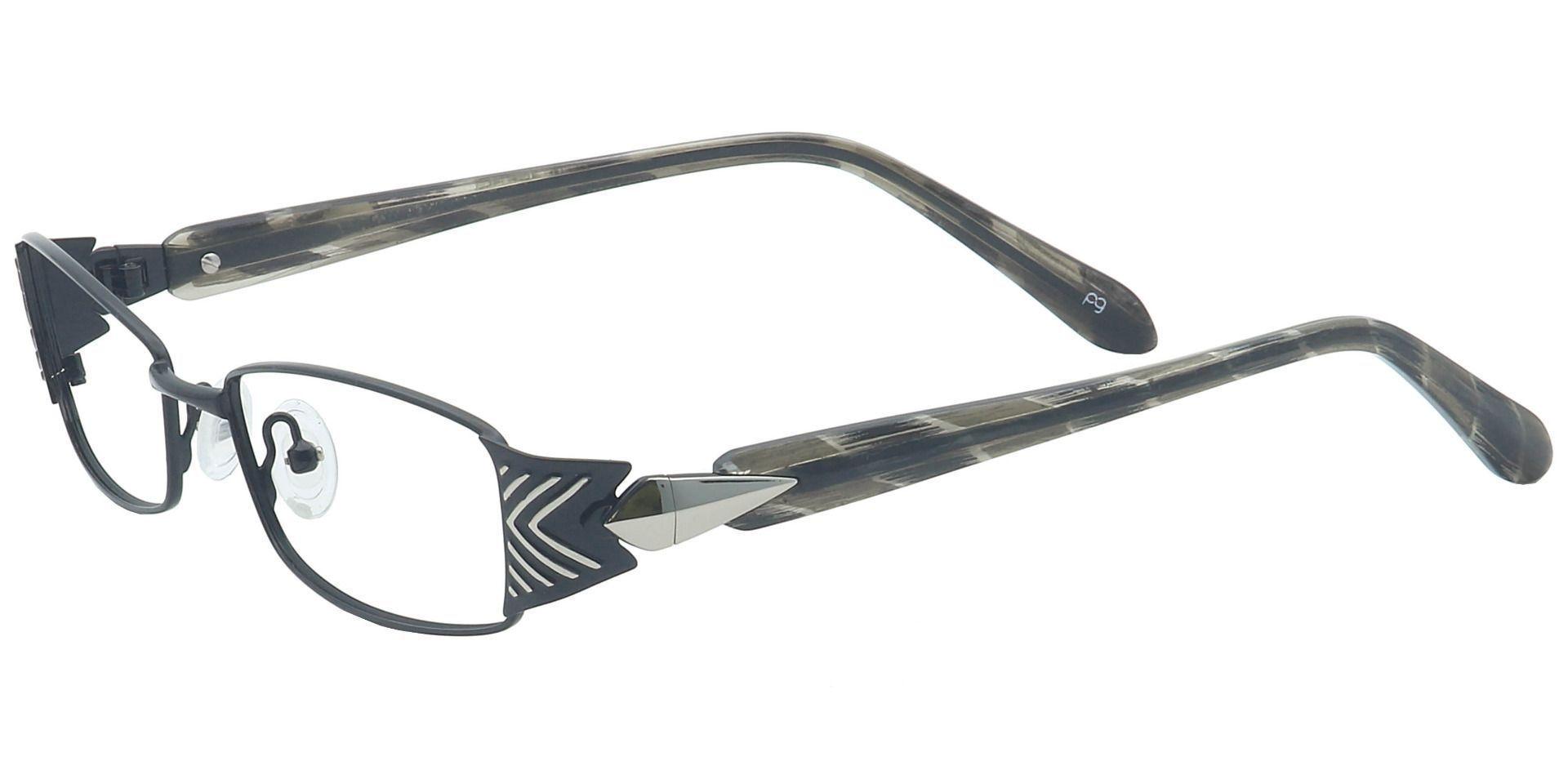 Rex Rectangle Single Vision Glasses - Black