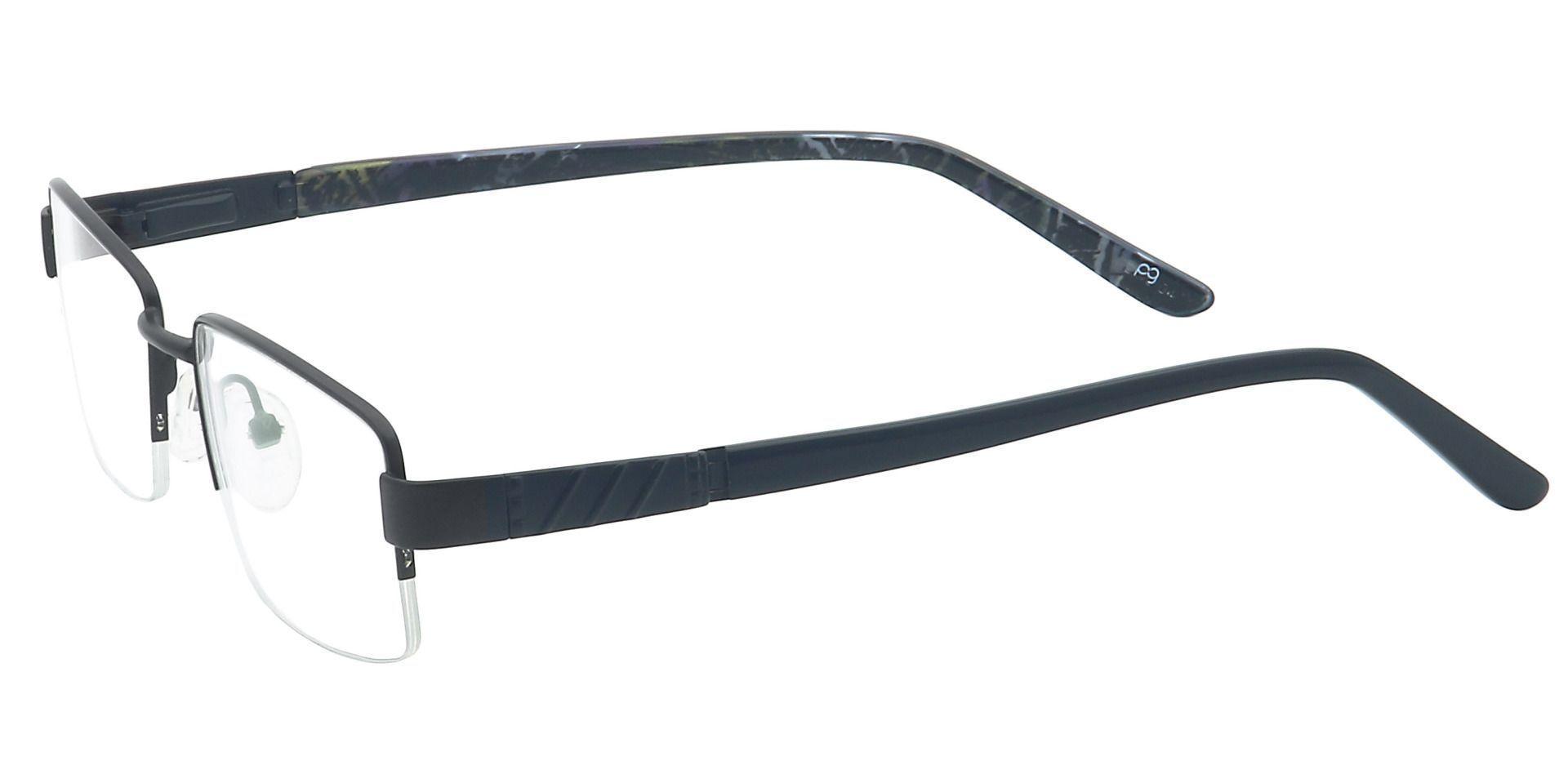 Rich Rectangle Prescription Glasses - Black
