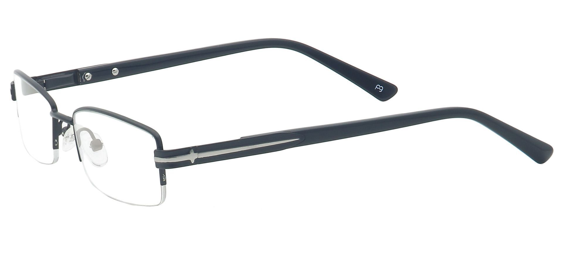 Reed Rectangle Non-Rx Glasses - Black