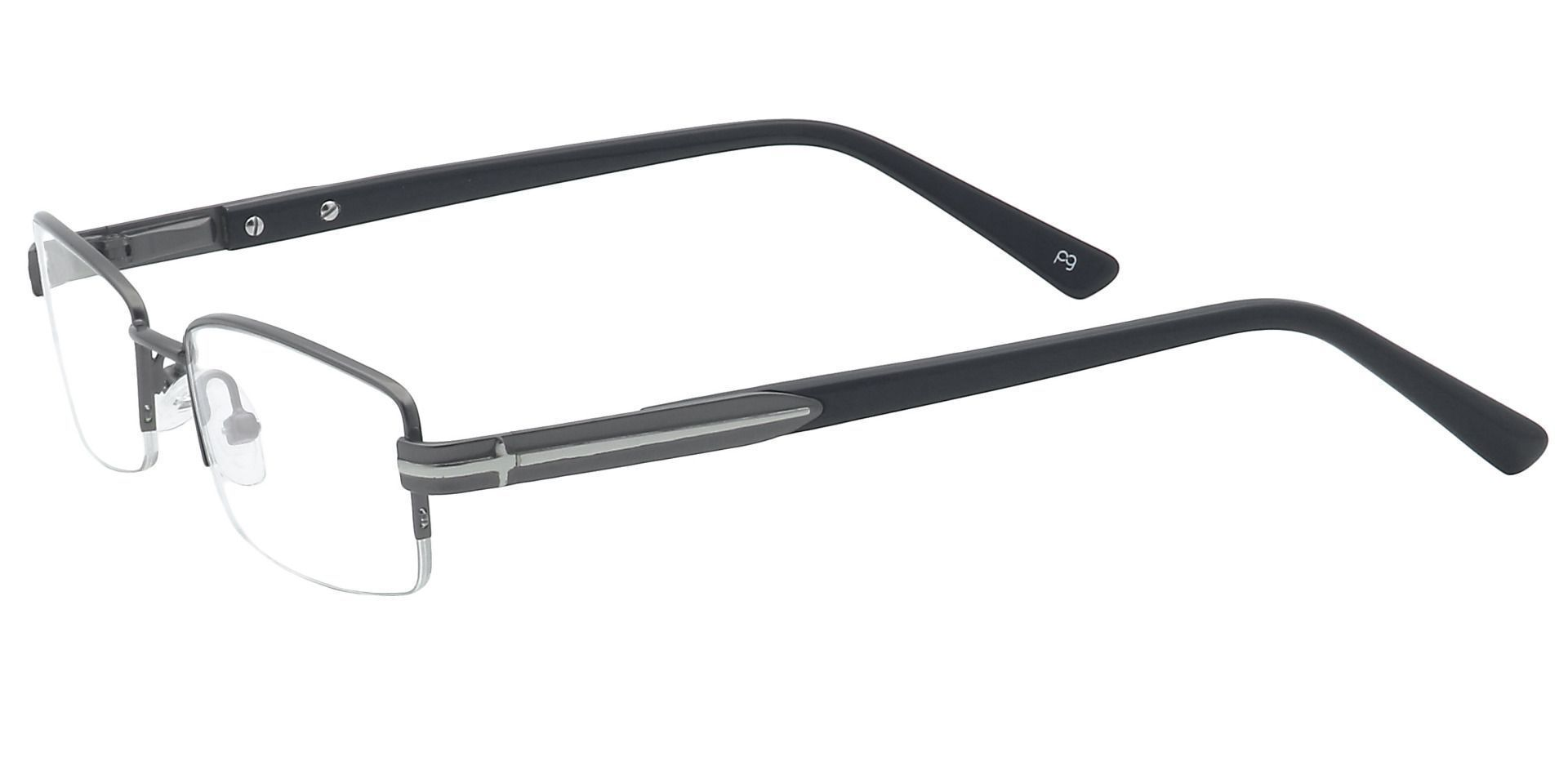 Reed Rectangle Prescription Glasses -  Gunmetal