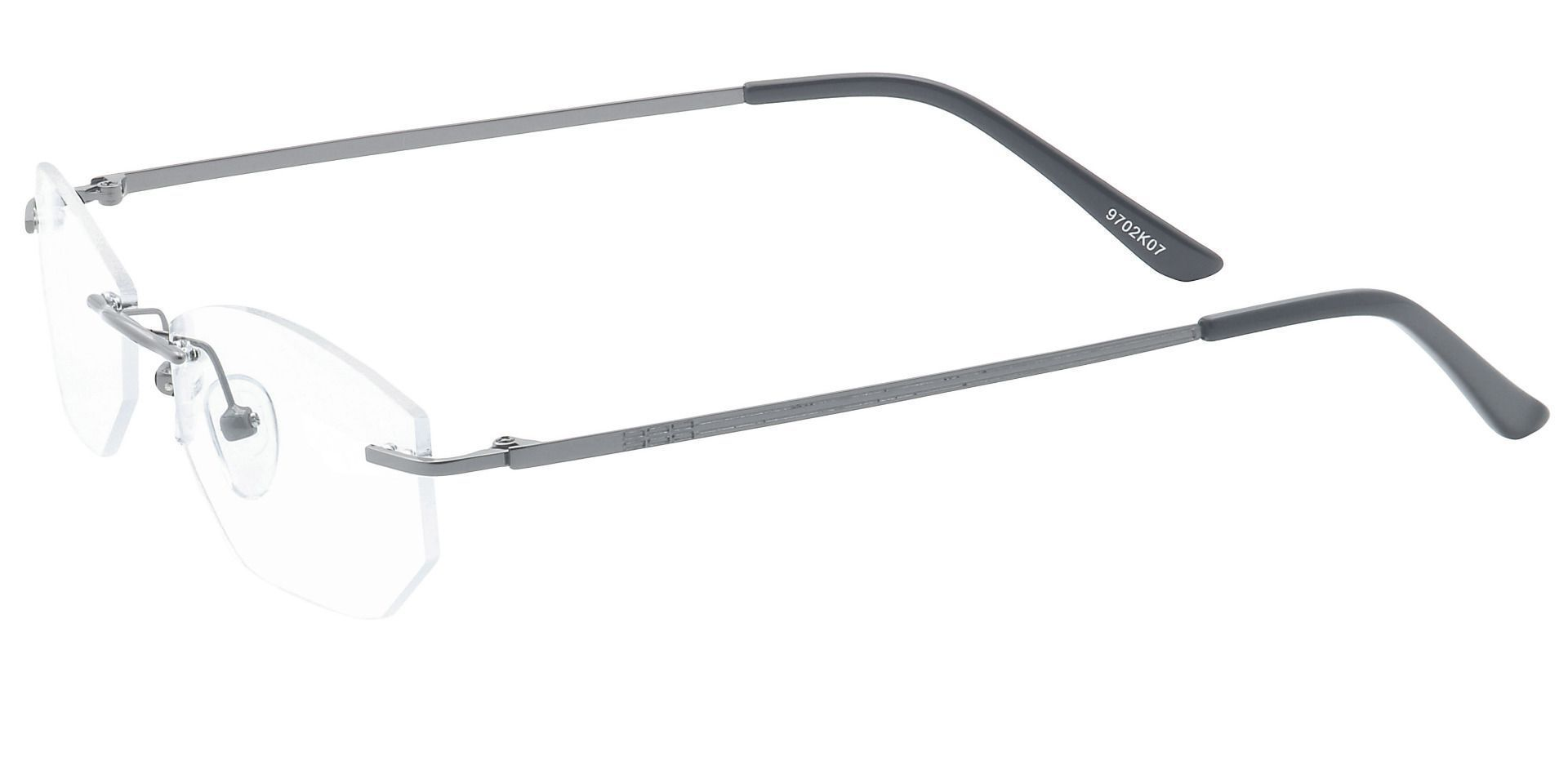Raul Rimless Lined Bifocal Glasses - Black