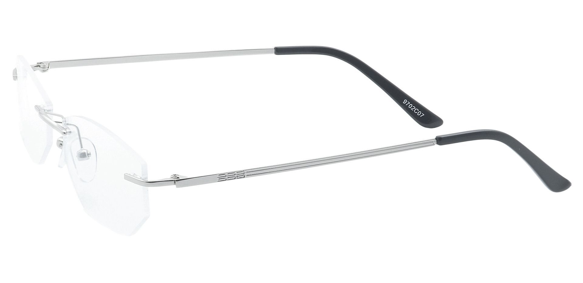 Raul Rimless Lined Bifocal Glasses - Clear