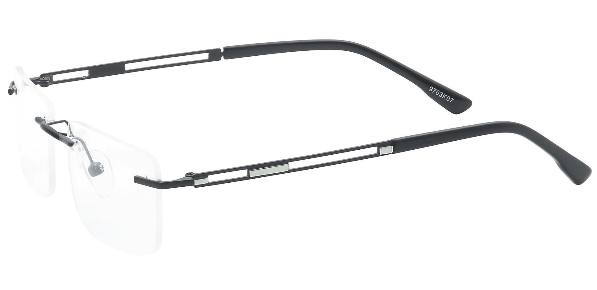 Ricky Rimless Blue Light Blocking Glasses - Black