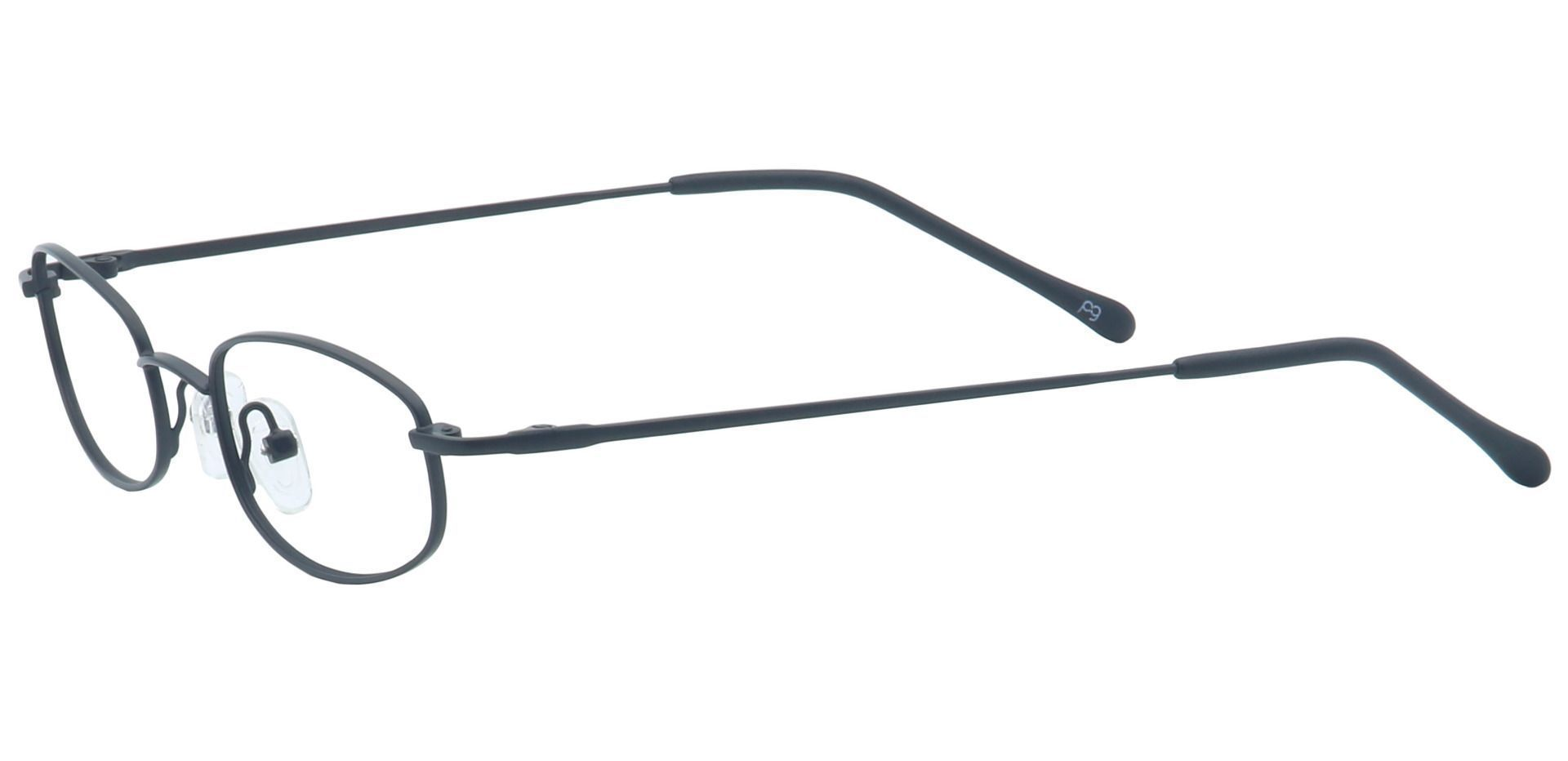 Orton Oval Single Vision Glasses - Black
