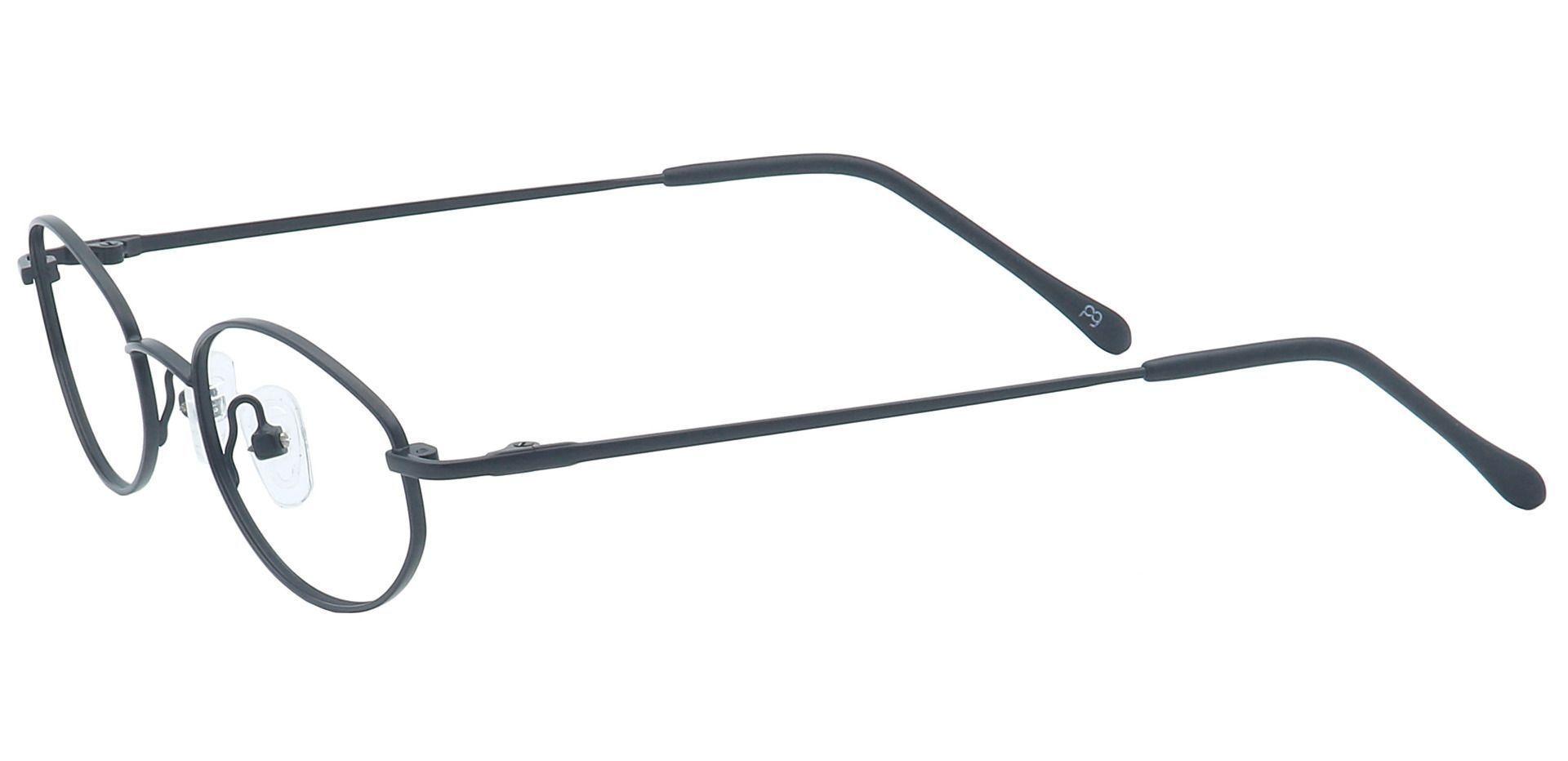 Odion Oval Non-Rx Glasses - Black