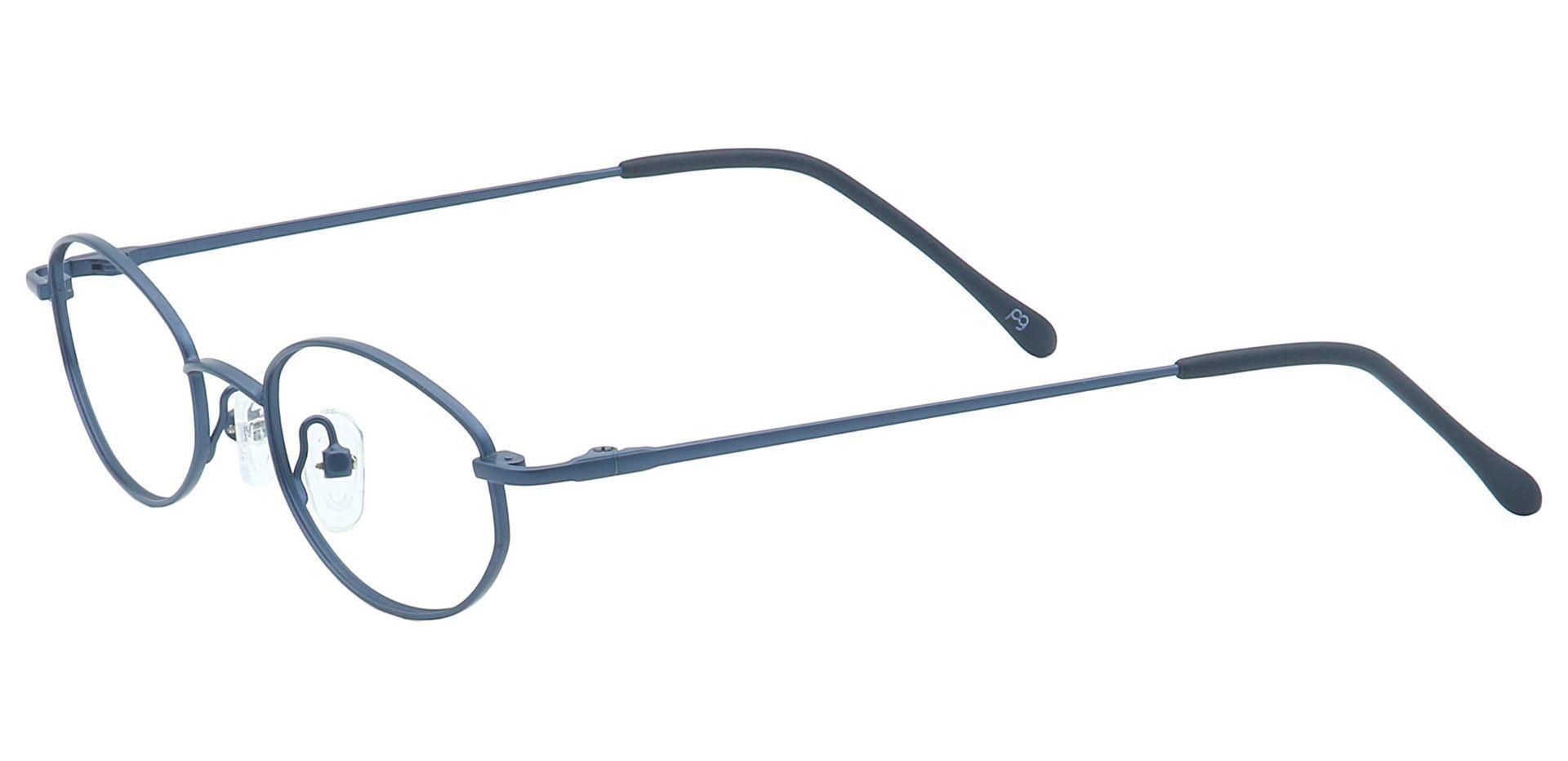 Odion Oval Blue Light Blocking Glasses - Blue