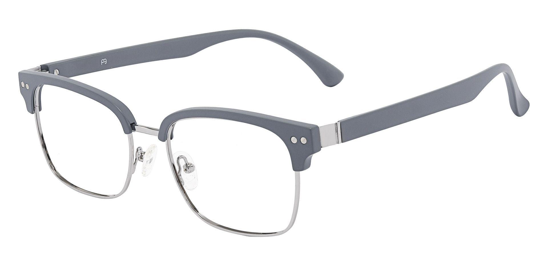 Bolivar Browline Prescription Glasses - Gray