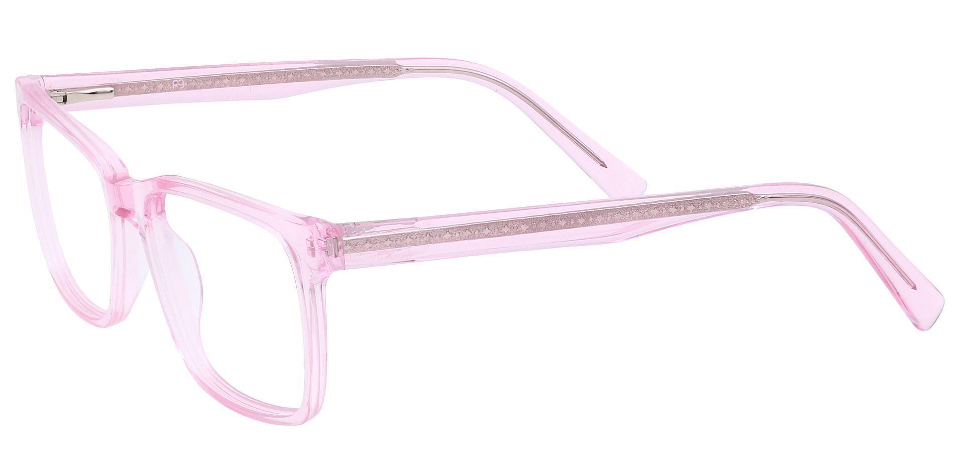 Galaxy Rectangle Prescription Glasses - Pink