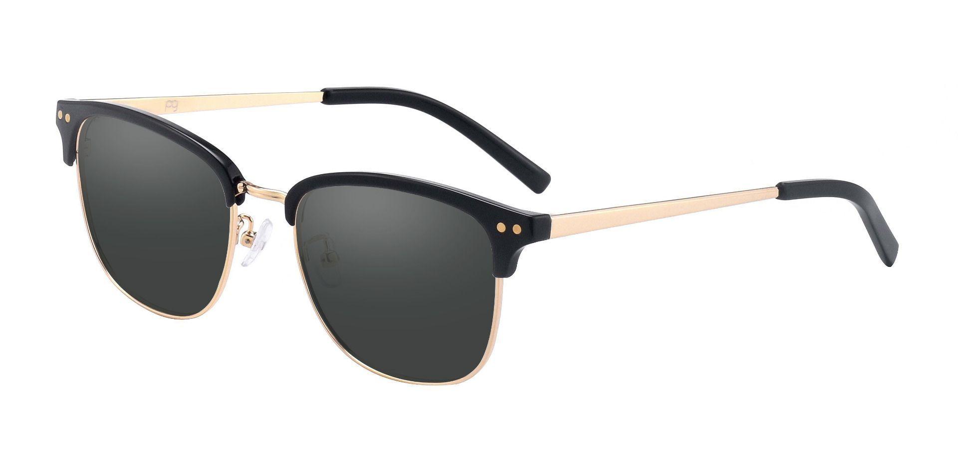Cutler Browline Prescription Sunglasses - Black Frame With Gray Lenses