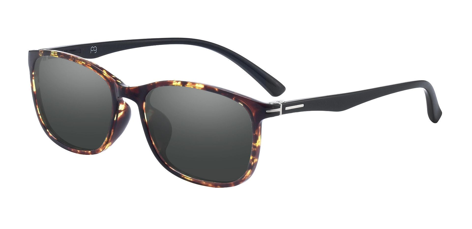 Gallant Oval Prescription Sunglasses - Tortoise Frame With Gray Lenses