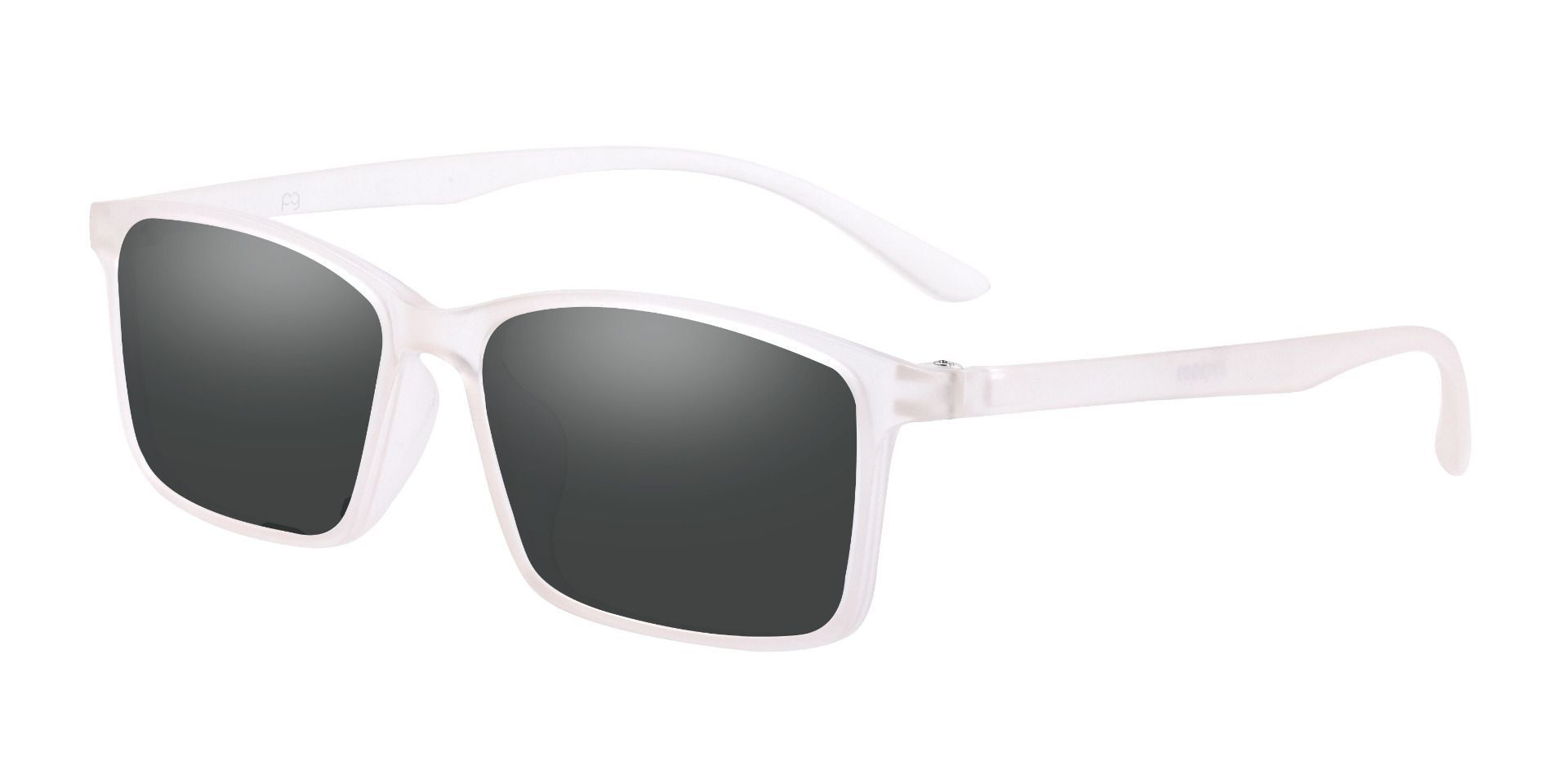 Horizon Rectangle Prescription Sunglasses - Gray Frame With Gray Lenses