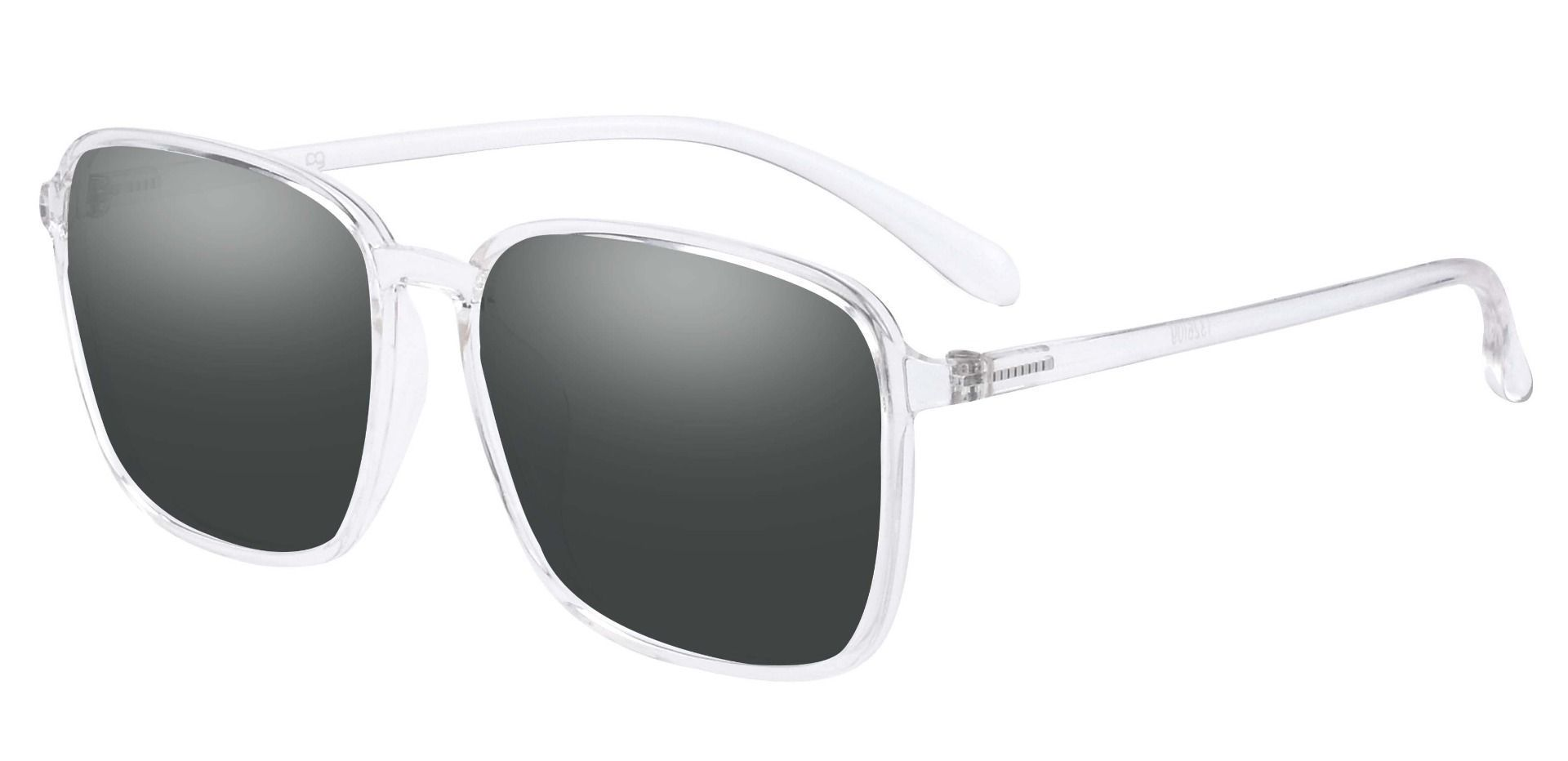 San Antonio Square Prescription Sunglasses - Gray Frame With Gray Lenses