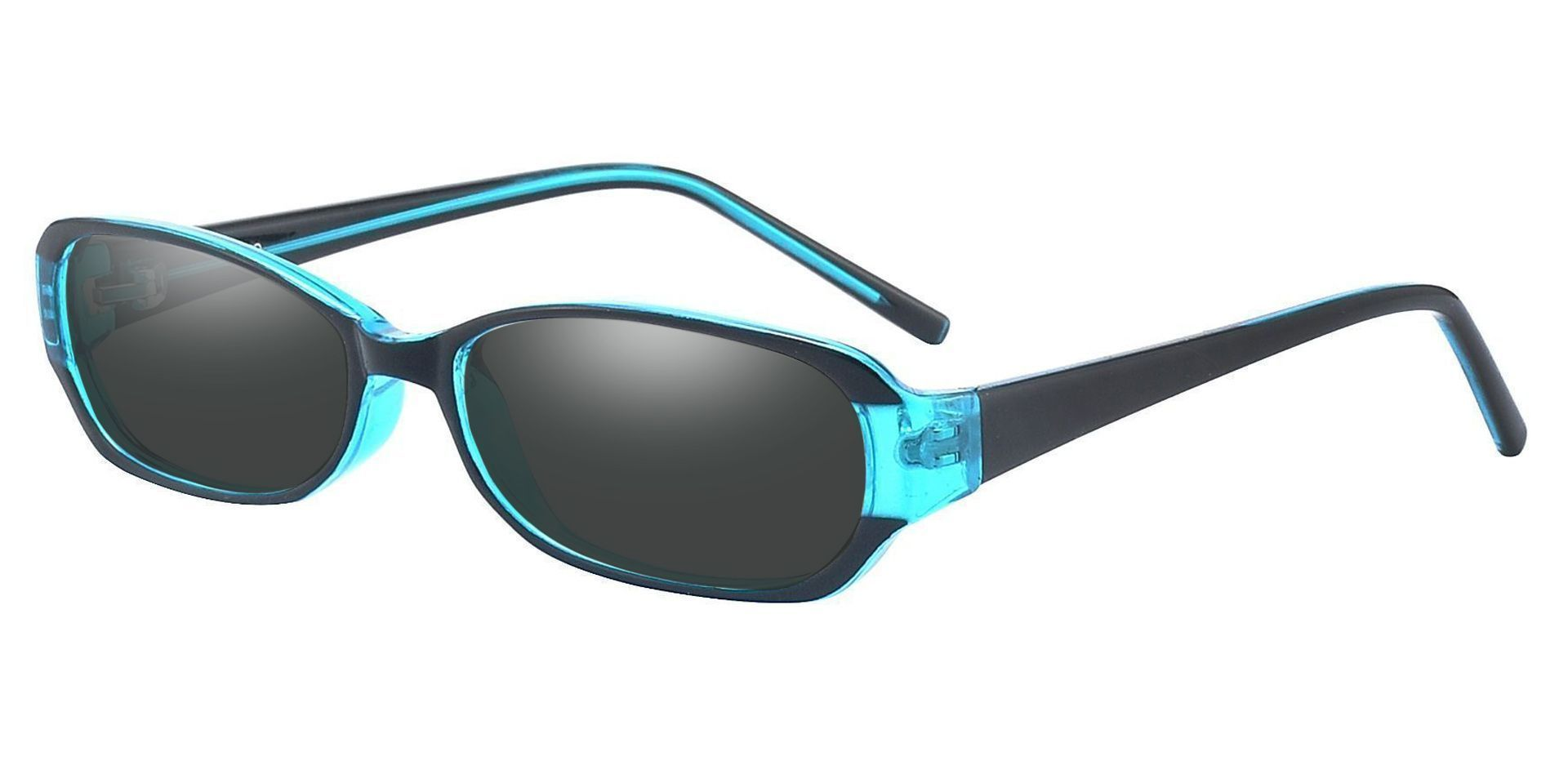 Nairobi Oval Single Vision Sunglasses -  Blue Frame With Gray Lenses