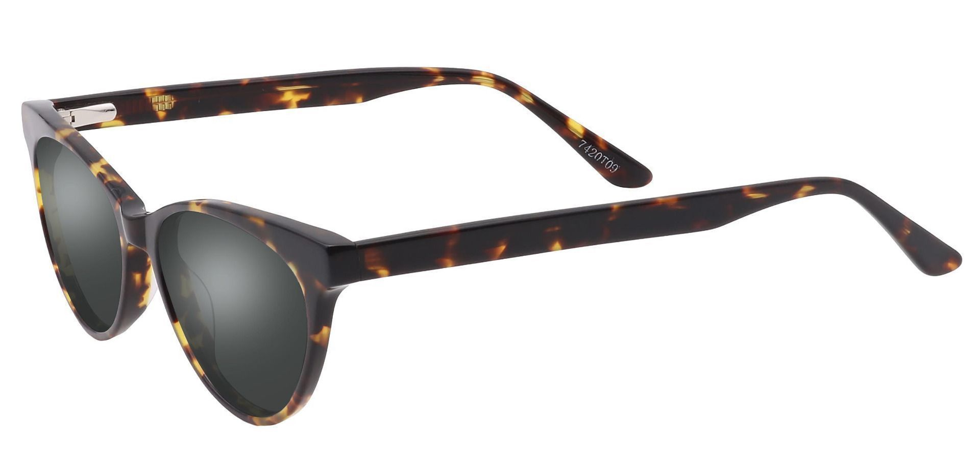 Sabrina Cat Eye Prescription Sunglasses - Tortoise Frame With Gray Lenses