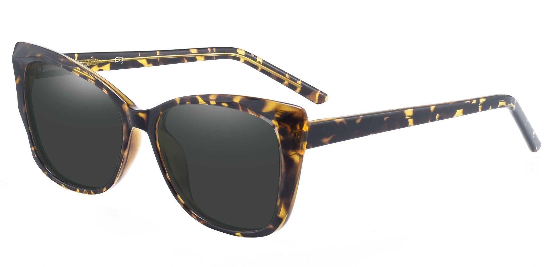 Mabel Square Progressive Sunglasses - Tortoise Frame With Gray Lenses