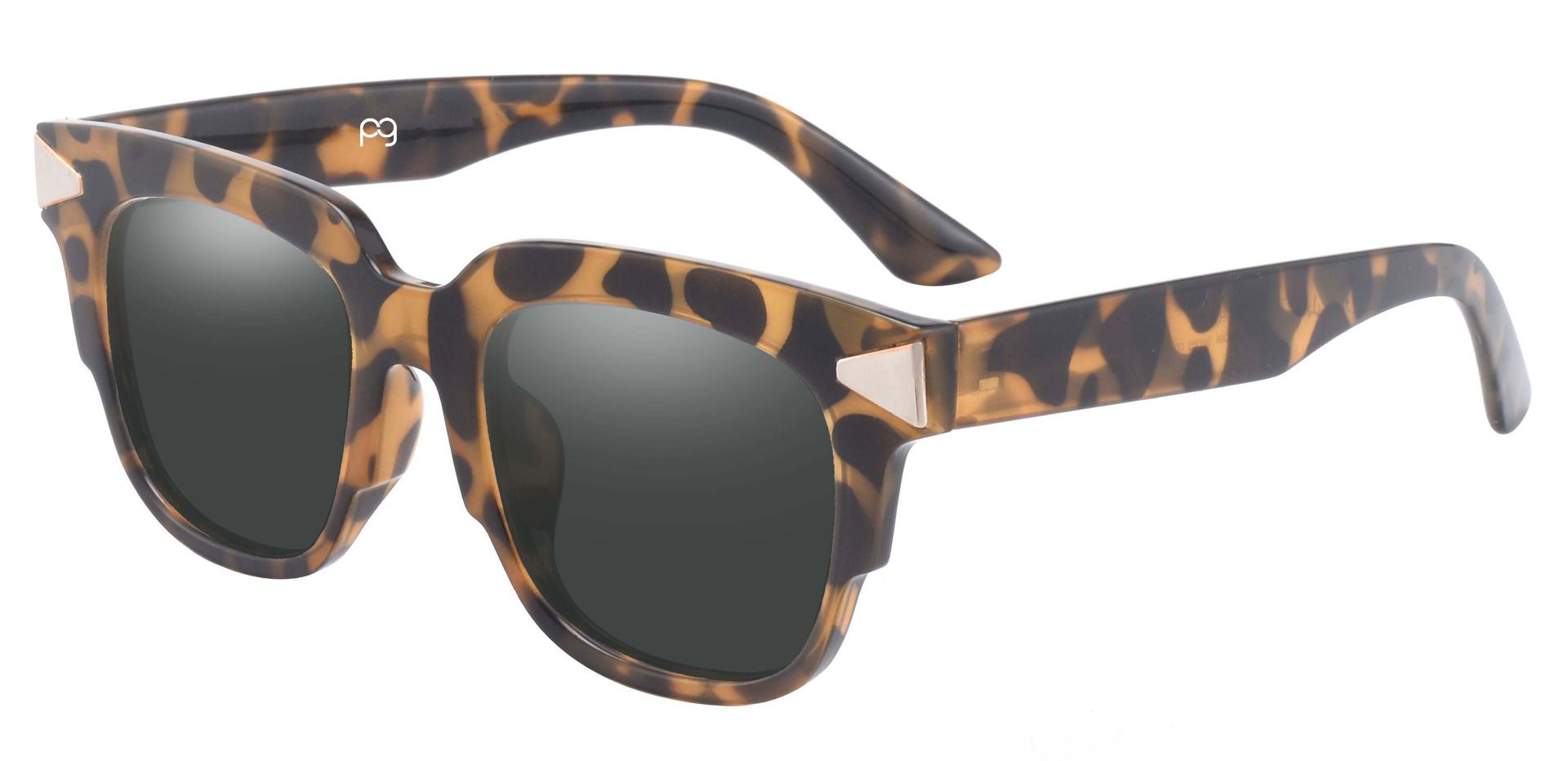 Ardent Square Non-Rx Sunglasses - Tortoise Frame With Gray Lenses