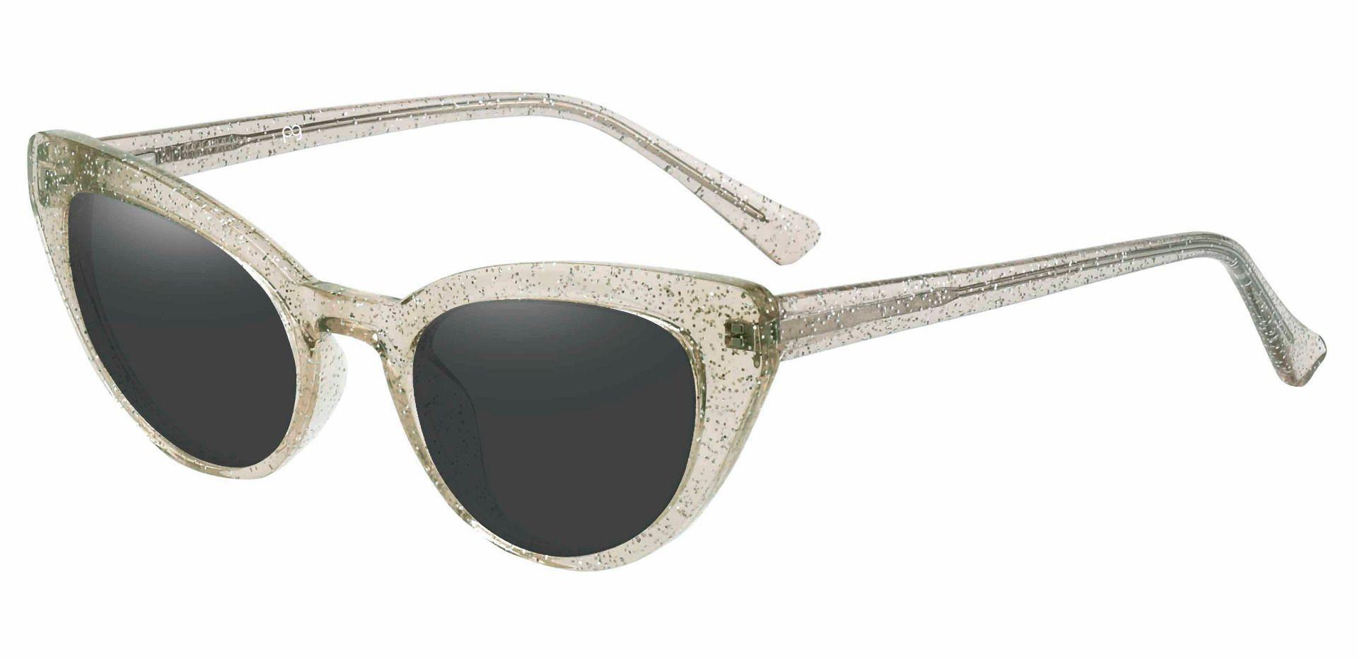 June Cat Eye Prescription Sunglasses - Brown Frame With Gray Lenses