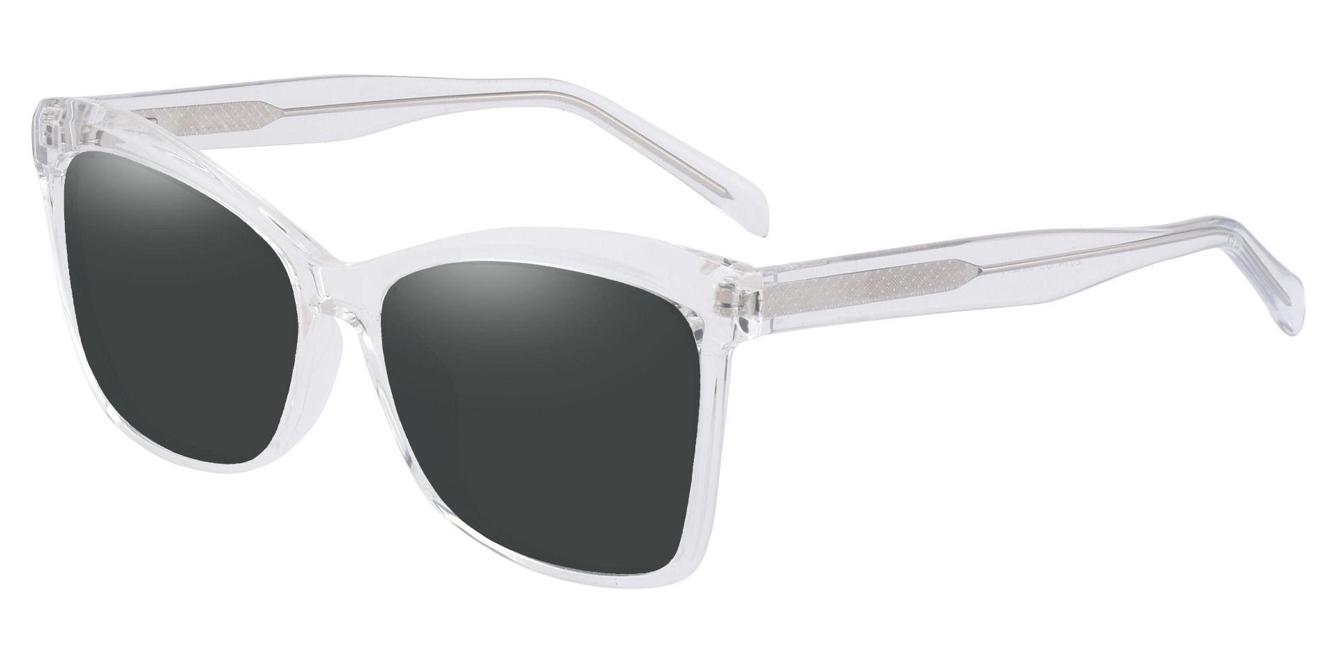 Lexi Cat Eye Prescription Sunglasses - Clear Frame With Gray Lenses