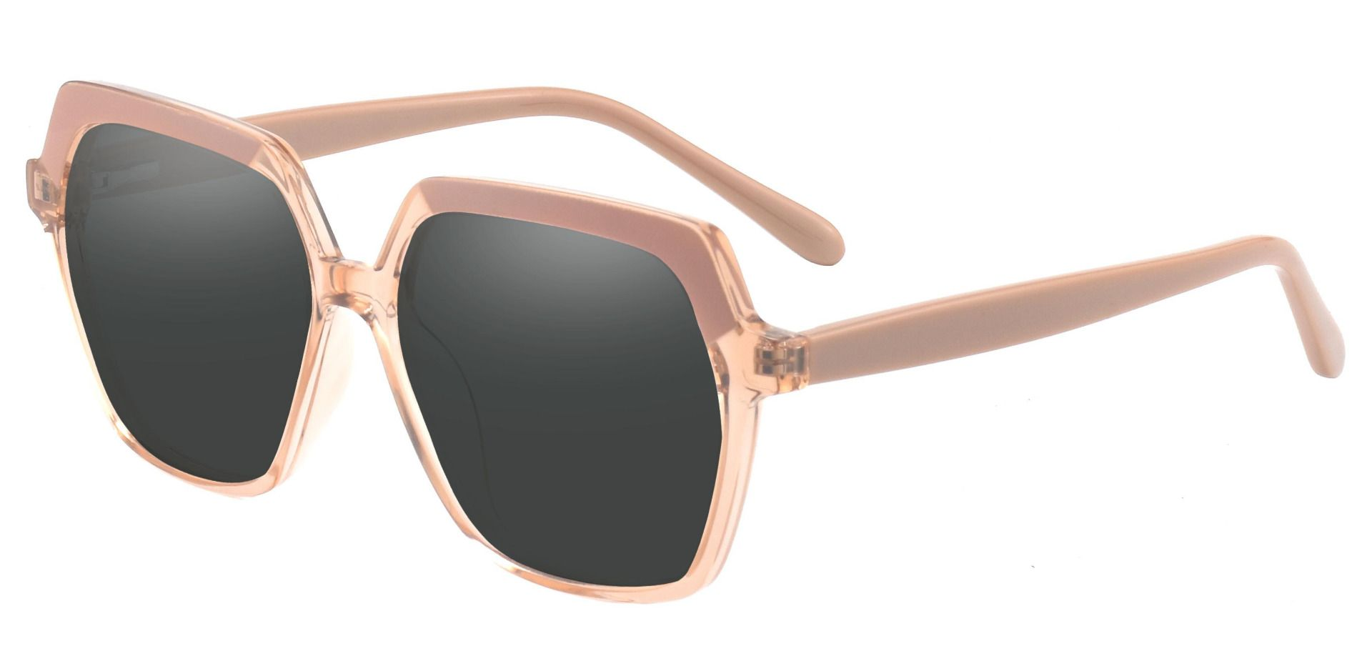 Regent Geometric Non-Rx Sunglasses - Brown Frame With Gray Lenses