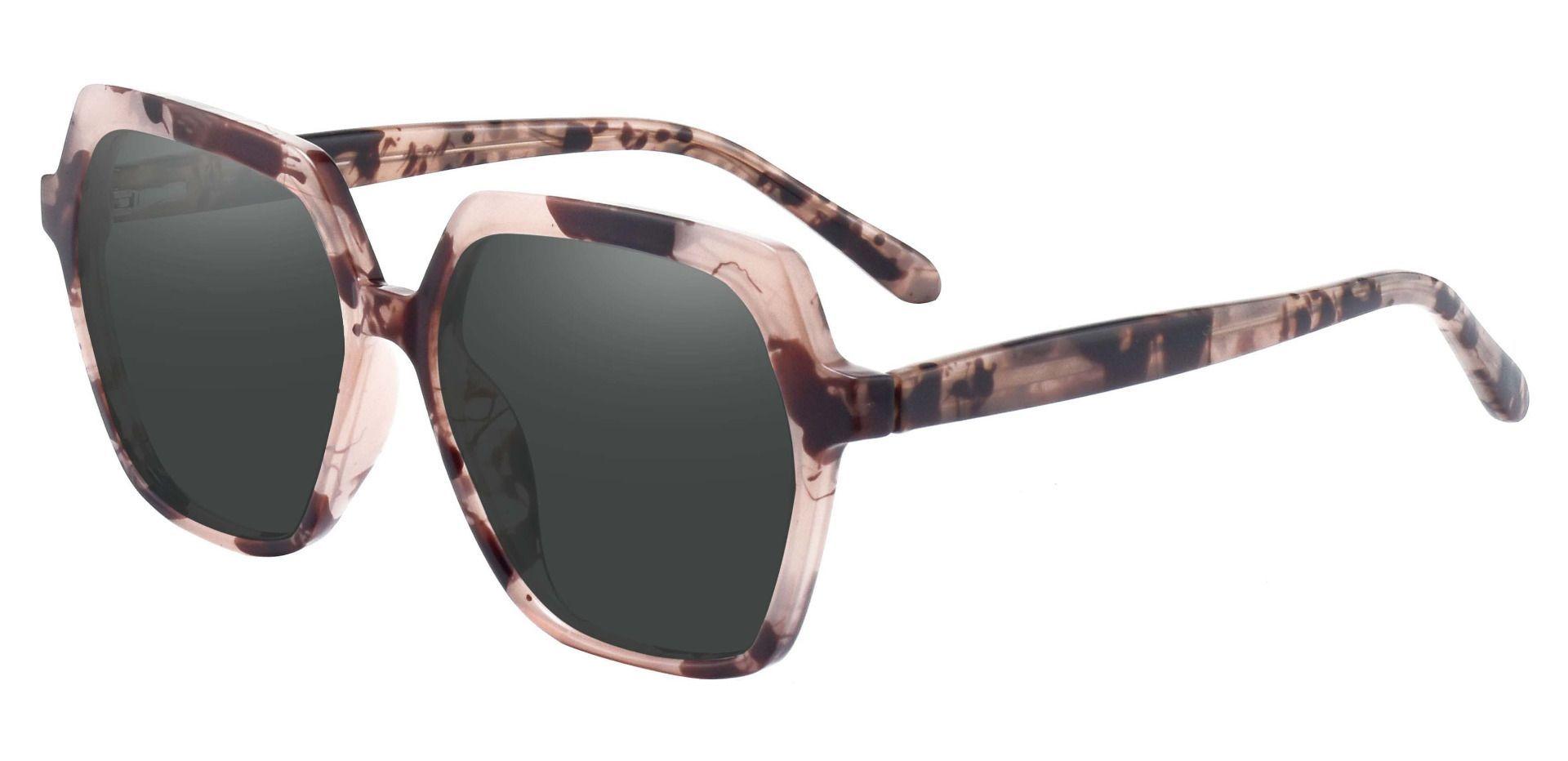 Regent Geometric Reading Sunglasses - Tortoise Frame With Gray Lenses