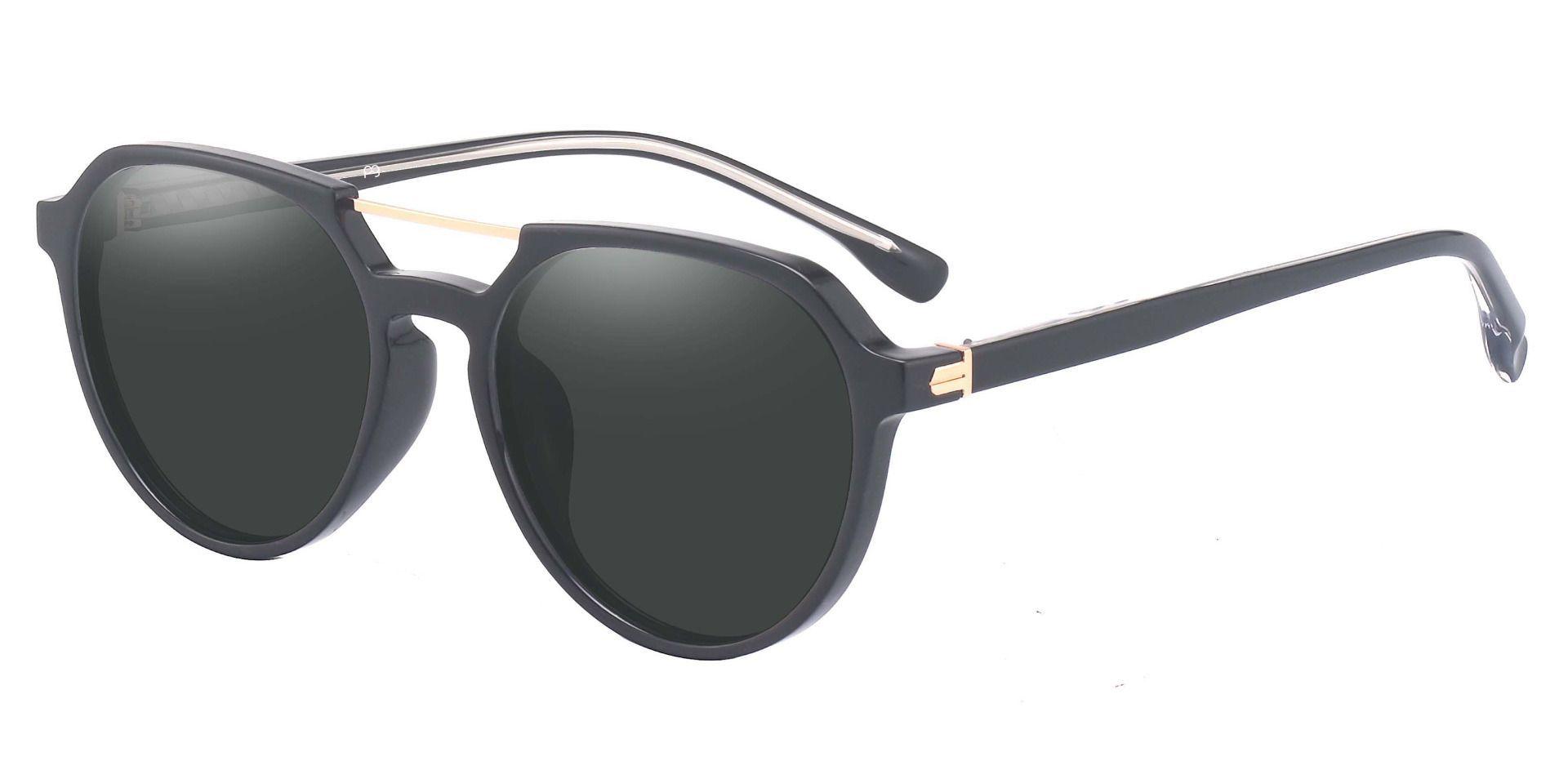 Bentley Aviator Progressive Sunglasses - Black Frame With Gray Lenses