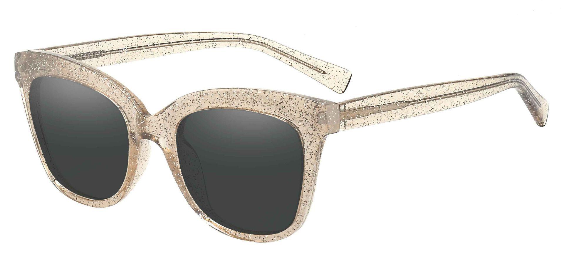 Knox Cat Eye Prescription Sunglasses - Brown Frame With Gray Lenses
