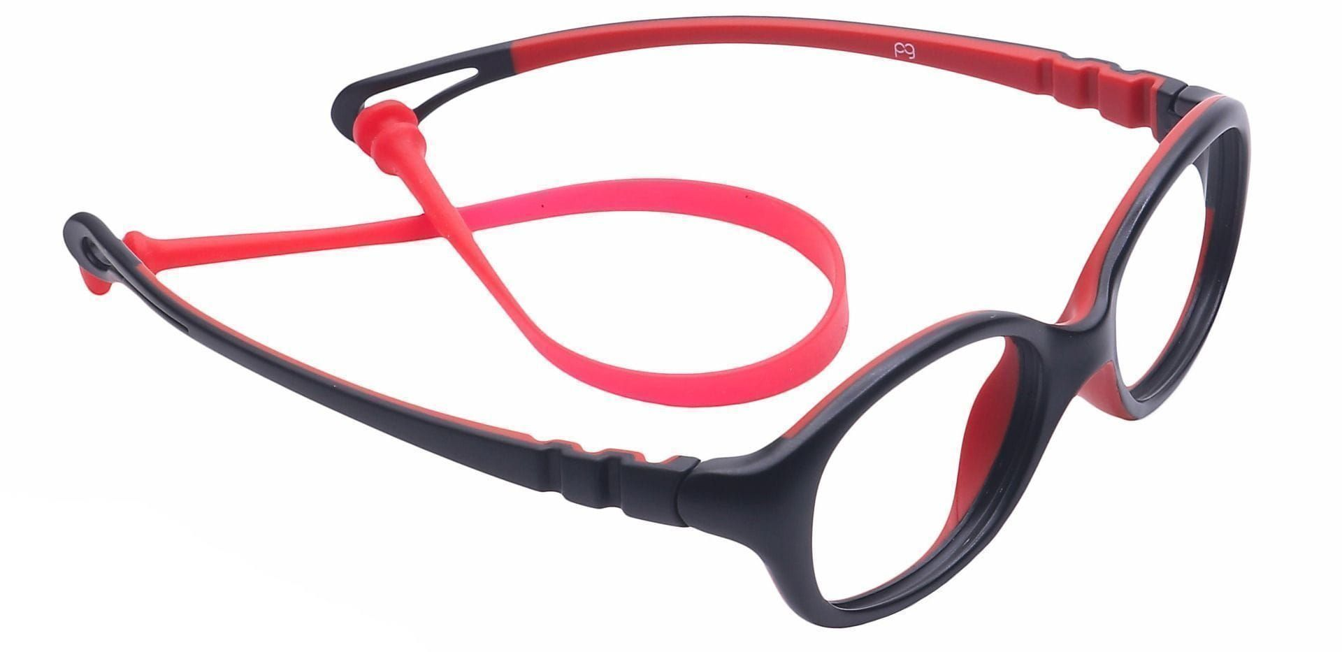 Quirk Oval Single Vision Glasses - Black