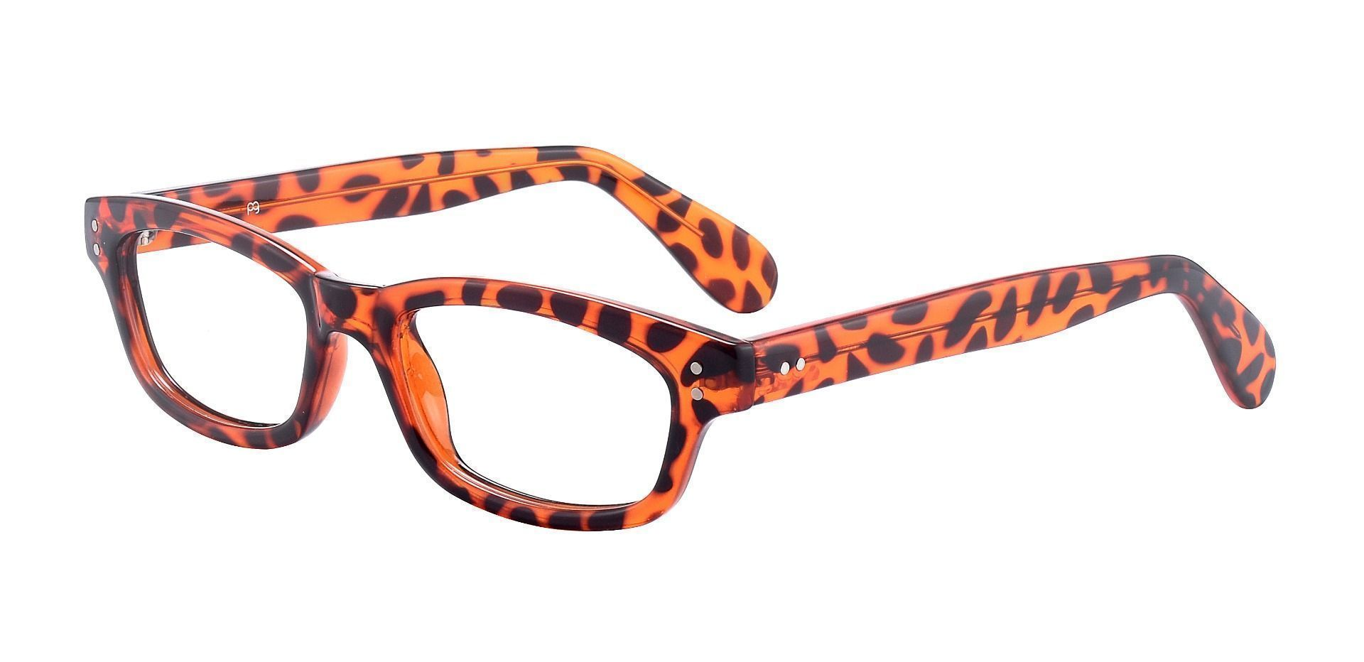 Panthera Rectangle Reading Glasses - Orange Crystal Tort